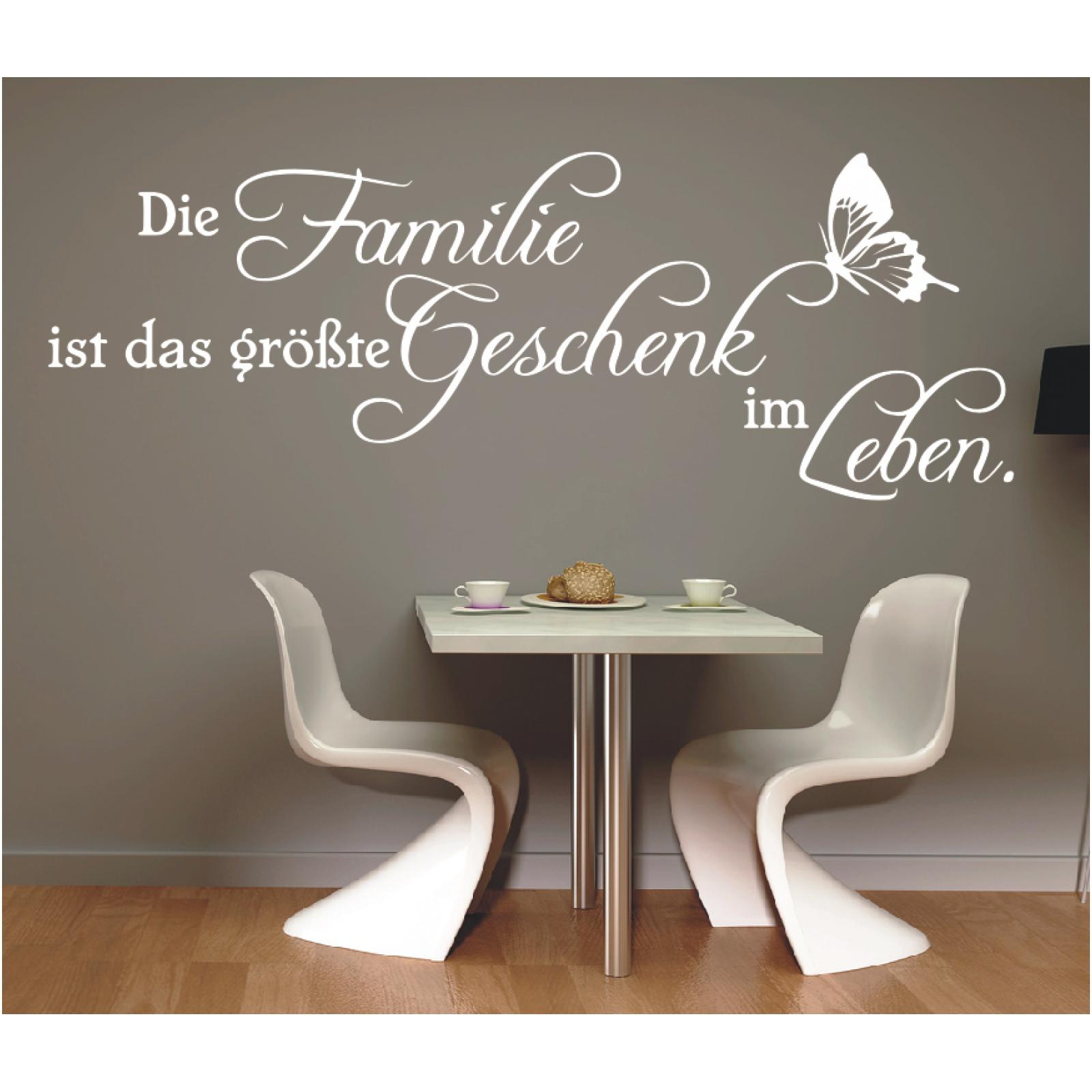Wandtattoo Spruch  Die Familie ist das größte Geschenk Zitate Sticker Aufkleber