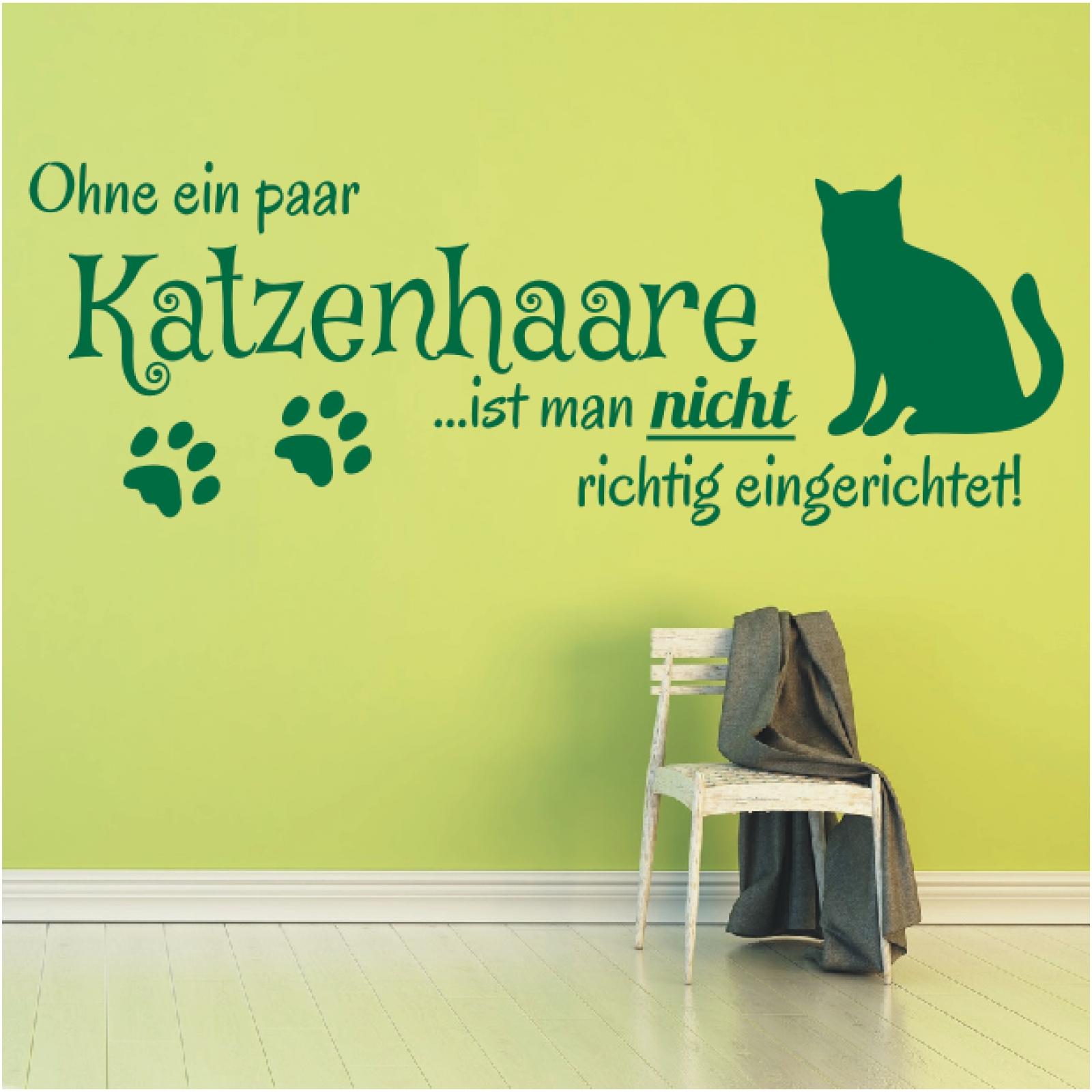 Wandtattoo Spruch  Ohne ein Hundehaare Hund Sticker Wandaufkleber Wandsticker 4