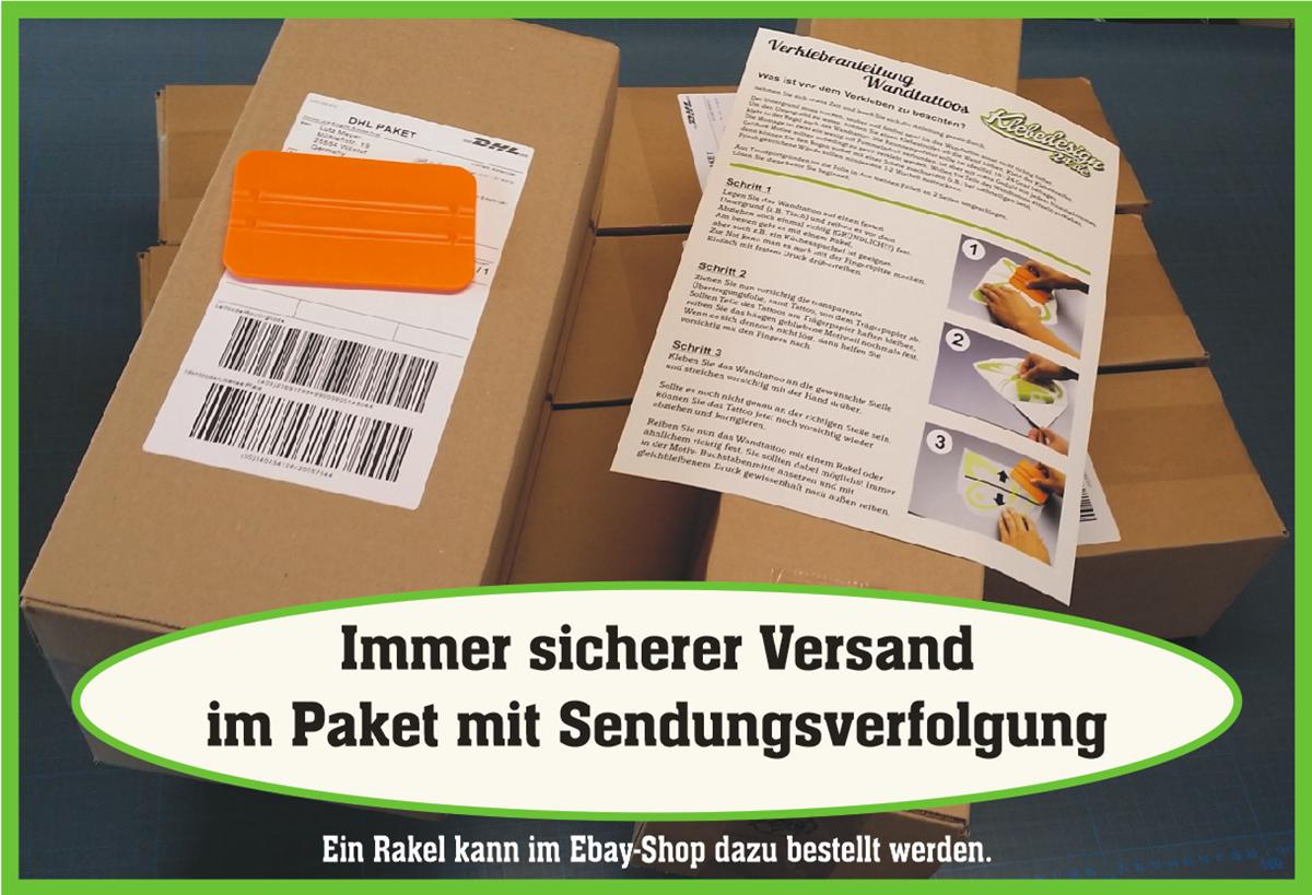 Wandtattoo-Spruch-In-ein-Haus-Glueck-Freude-Wandaufkleber-Aufkleber-Sticker Indexbild 8