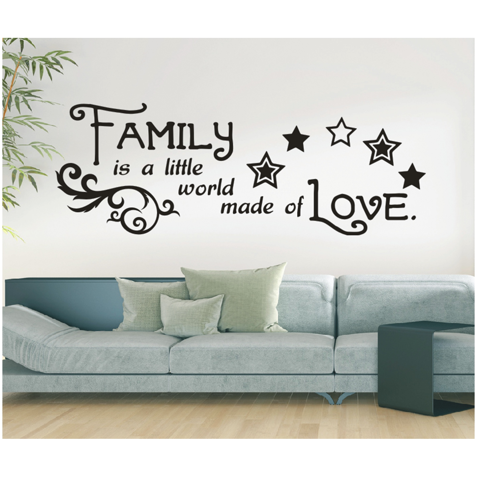 Spruch wandtattoo family is world love familie - Wandtattoo family ...