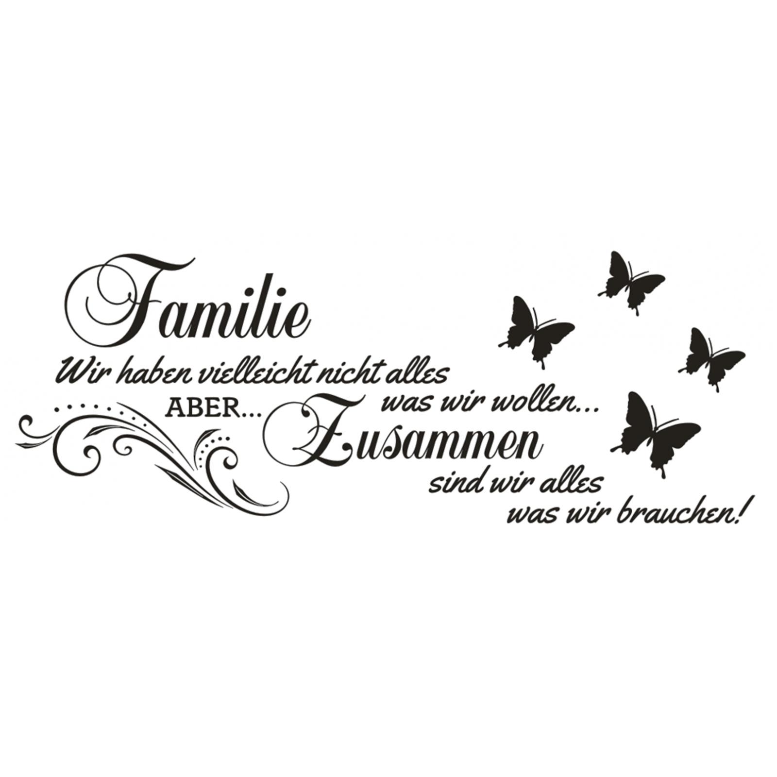 Familie Wir haben Aber zusammen Sticker Wandaufkleber X139 Wandtattoo Spruch