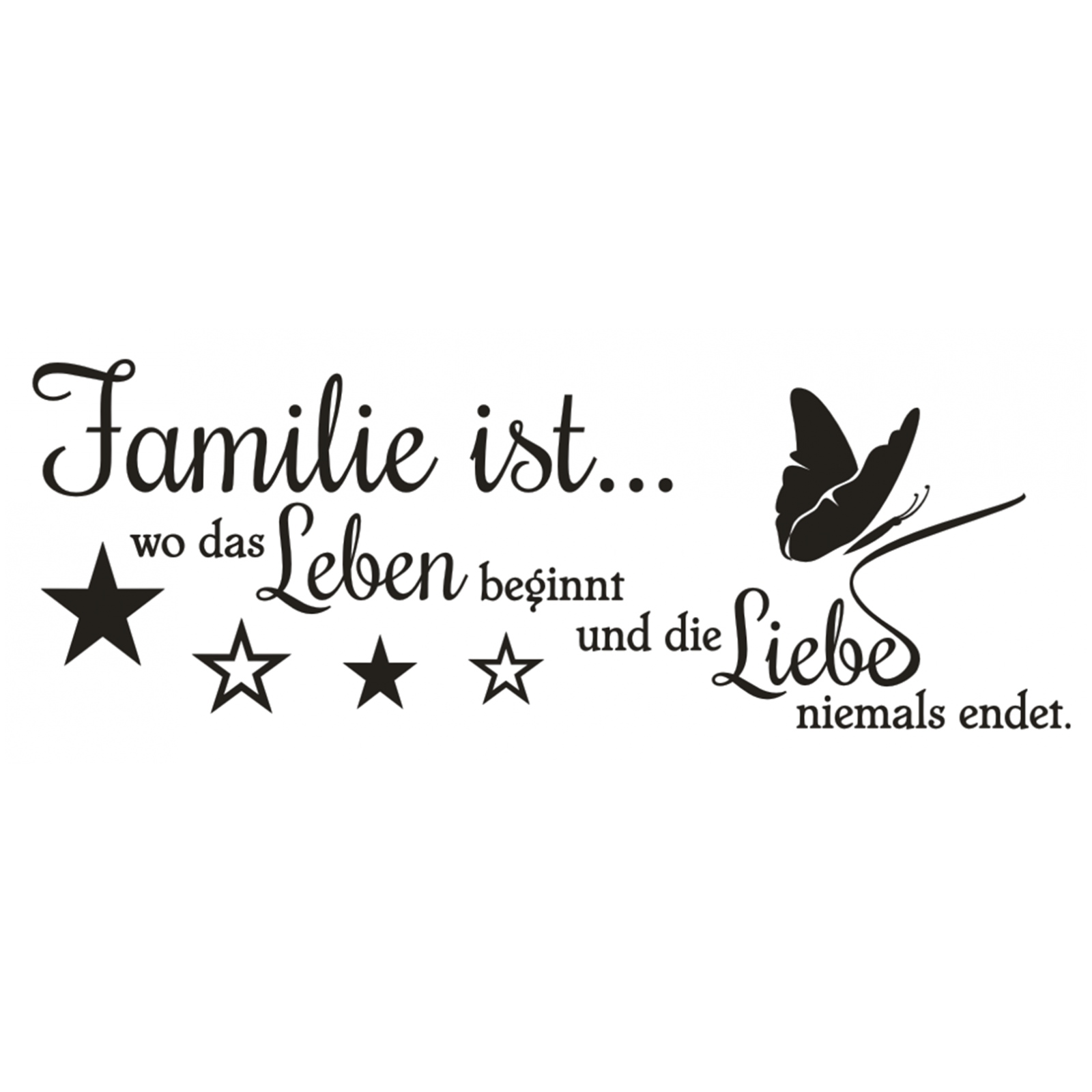 wandtattoo spruch familie wo leben liebe wandsticker wandaufkleber sticker ebay. Black Bedroom Furniture Sets. Home Design Ideas