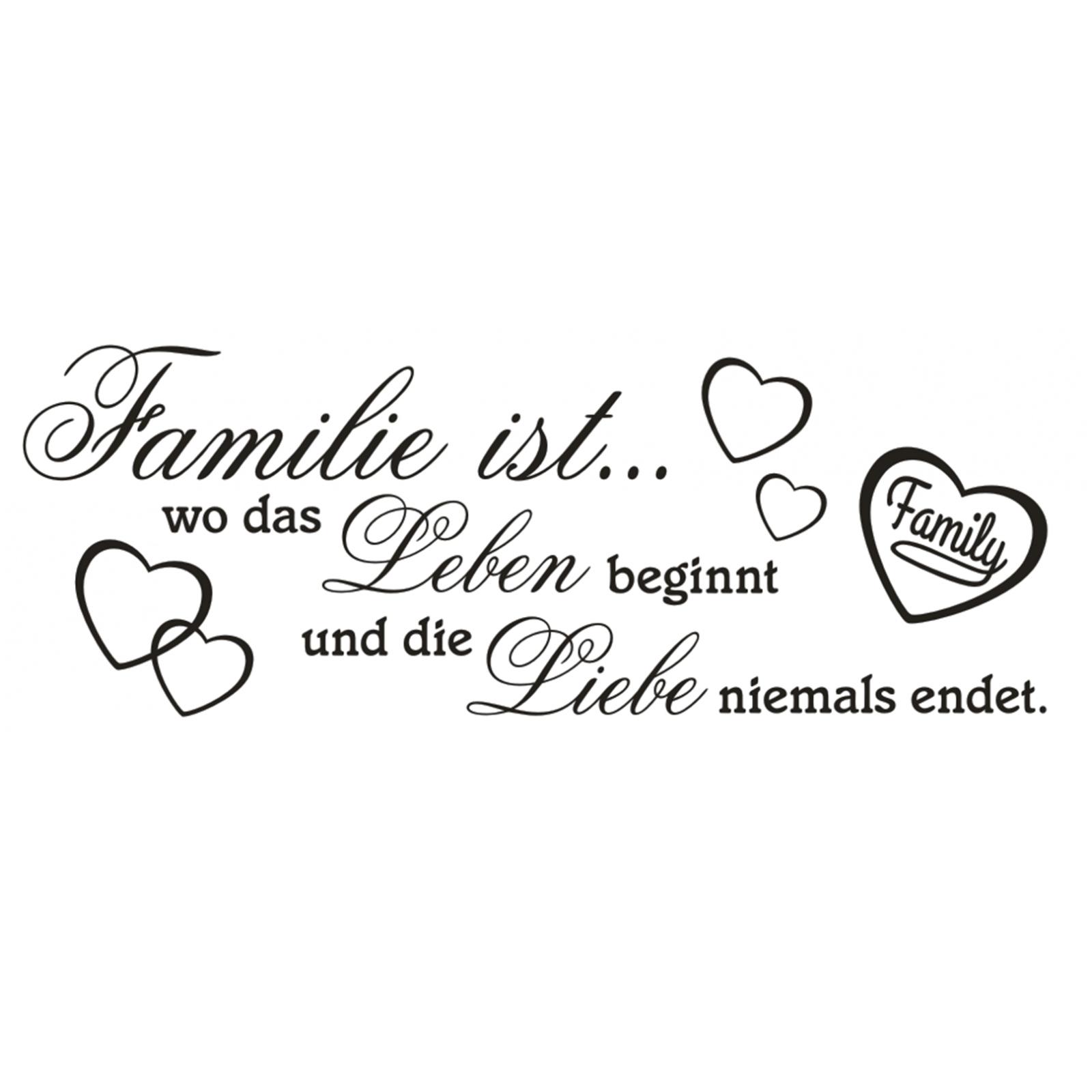 Wandtattoo Spruch Familie Wo Leben Liebe Wandsticker Sticker