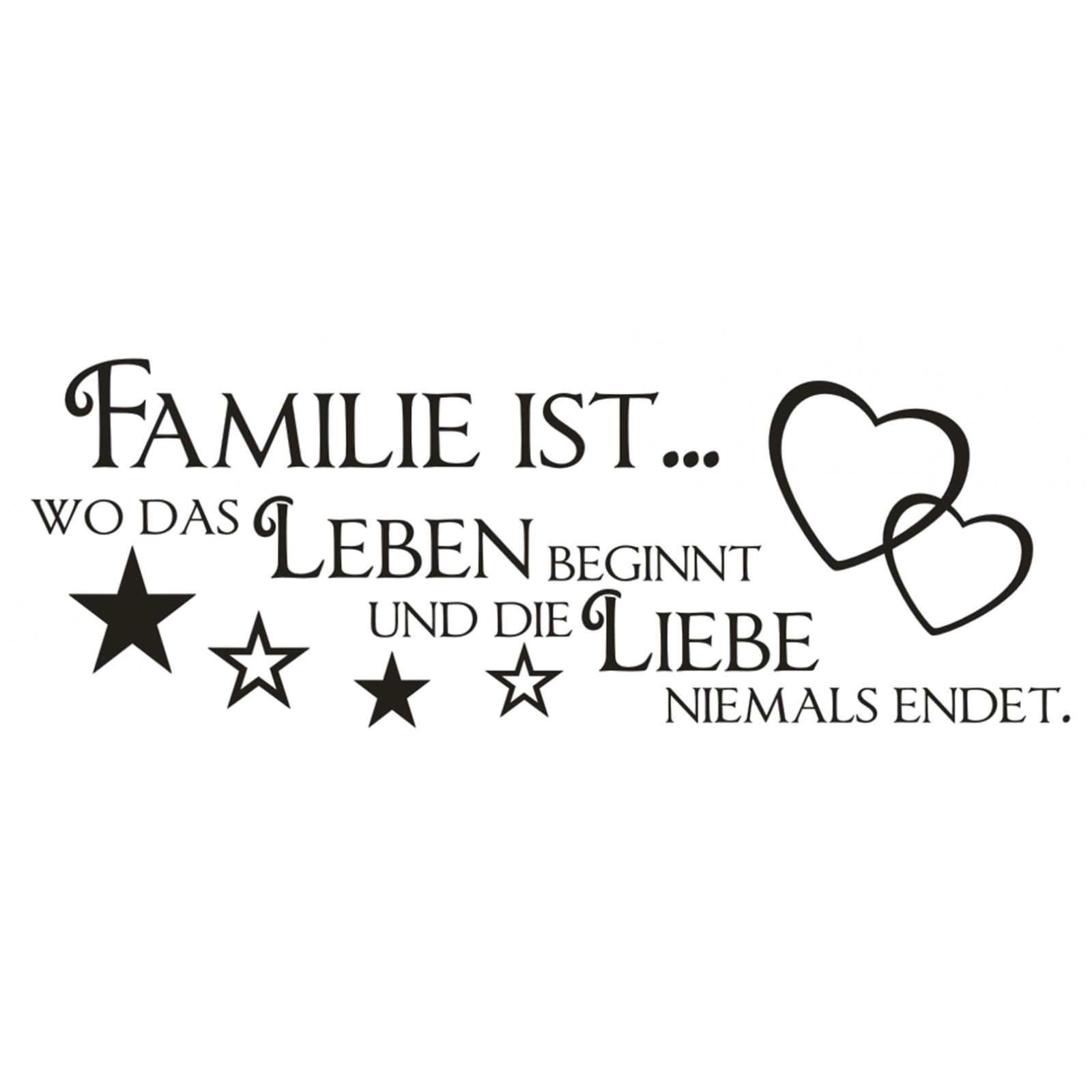 X189 Wandtattoo Spruch Familie Wo Das Leben Beginnt Liebe Sticker