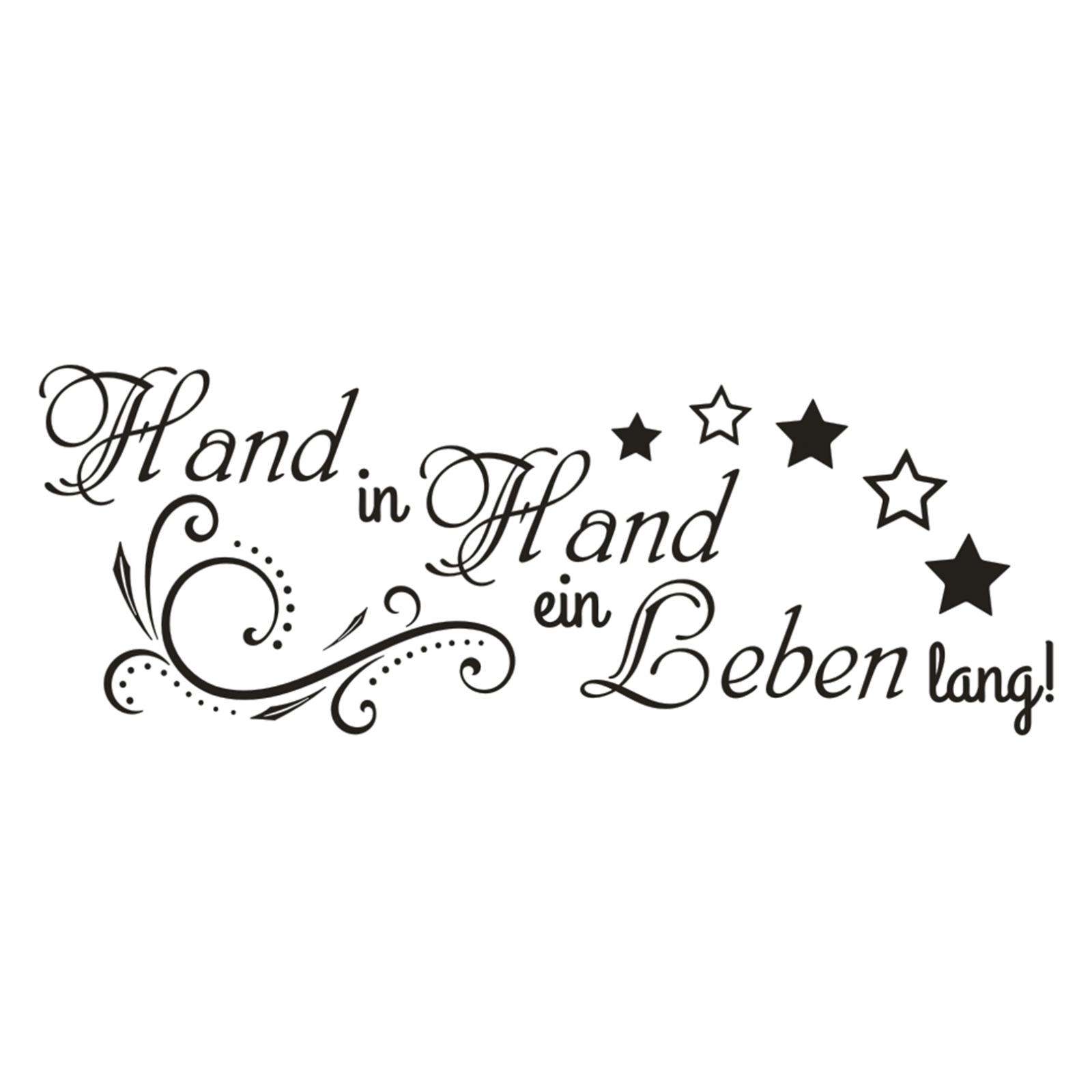 Wandtattoo-Spruch-Zusammen-Hand-Leben-lang-Wandsticker-Sticker-Wandaufkleber-3 Indexbild 2