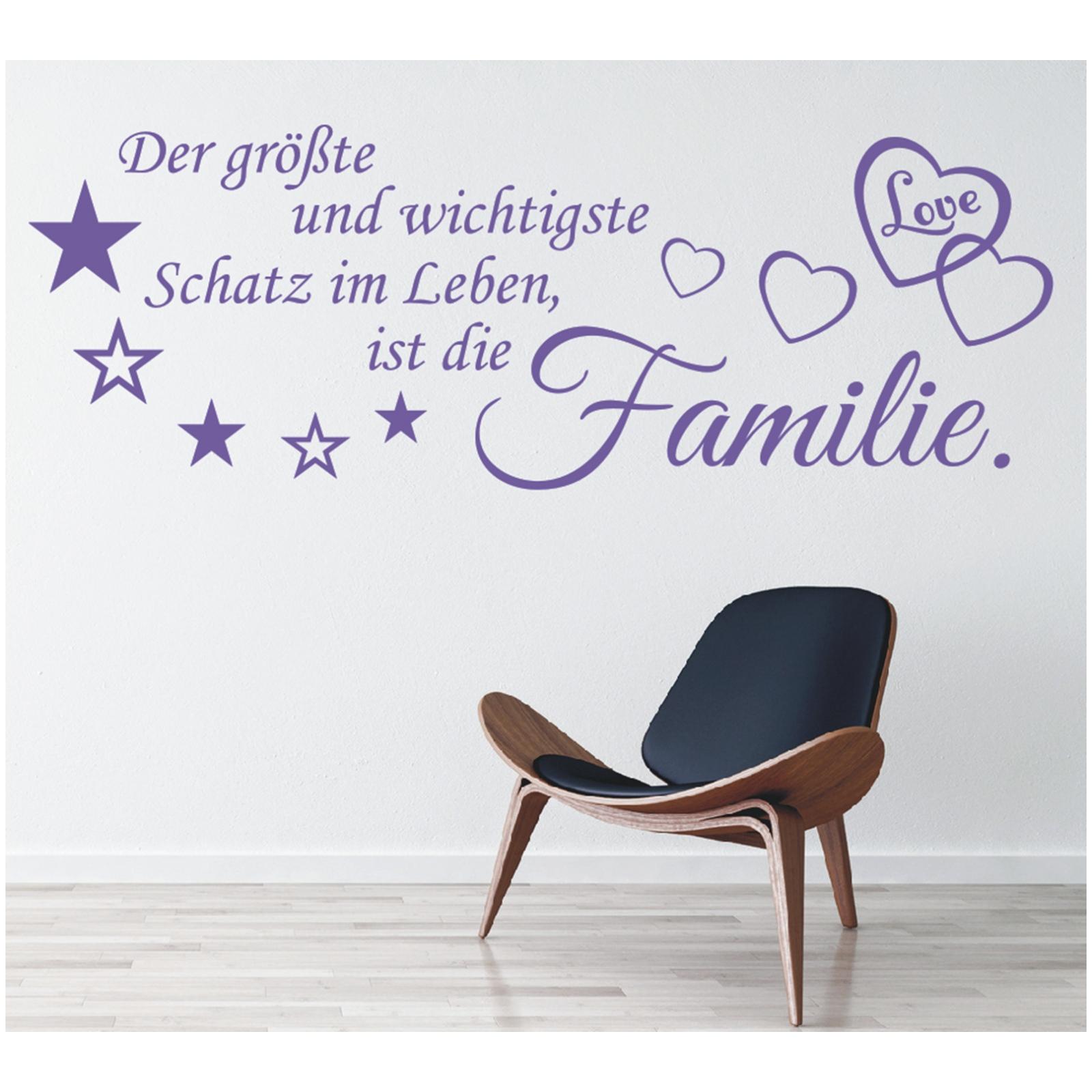 X230 Wandtattoo Spruch Der Größte Und Schatz Im Leben Familie