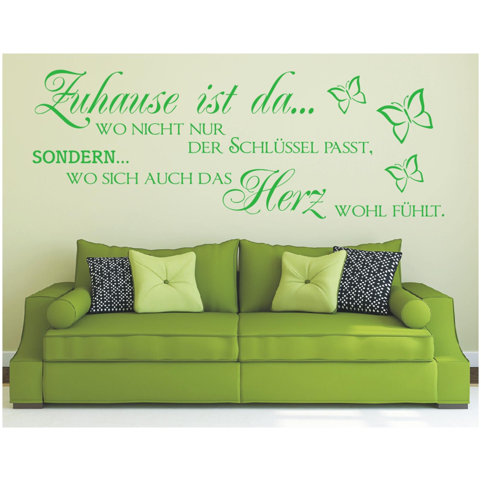 wandtattoo spruch zuhause schl ssel herz wandsticker sticker wandaufkleber 1 ebay. Black Bedroom Furniture Sets. Home Design Ideas
