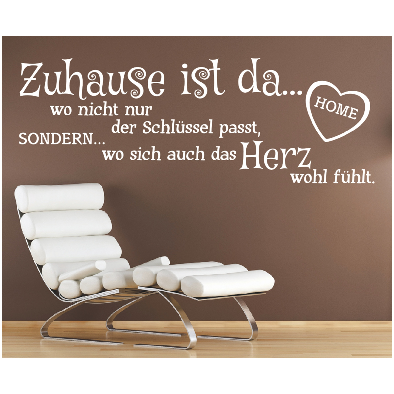 wandtattoo spruch zuhause schl ssel herz wandsticker sticker wandaufkleber 9 ebay. Black Bedroom Furniture Sets. Home Design Ideas