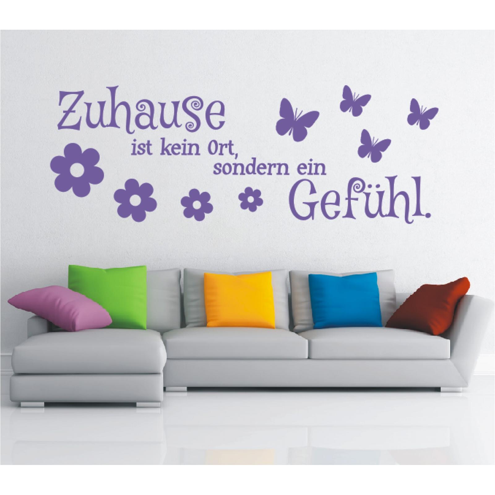 Wandtattoo-Spruch-Zuhause-kein-Ort-Gefuehl-Wandsticker-Sticker-Wandaufkleber-9