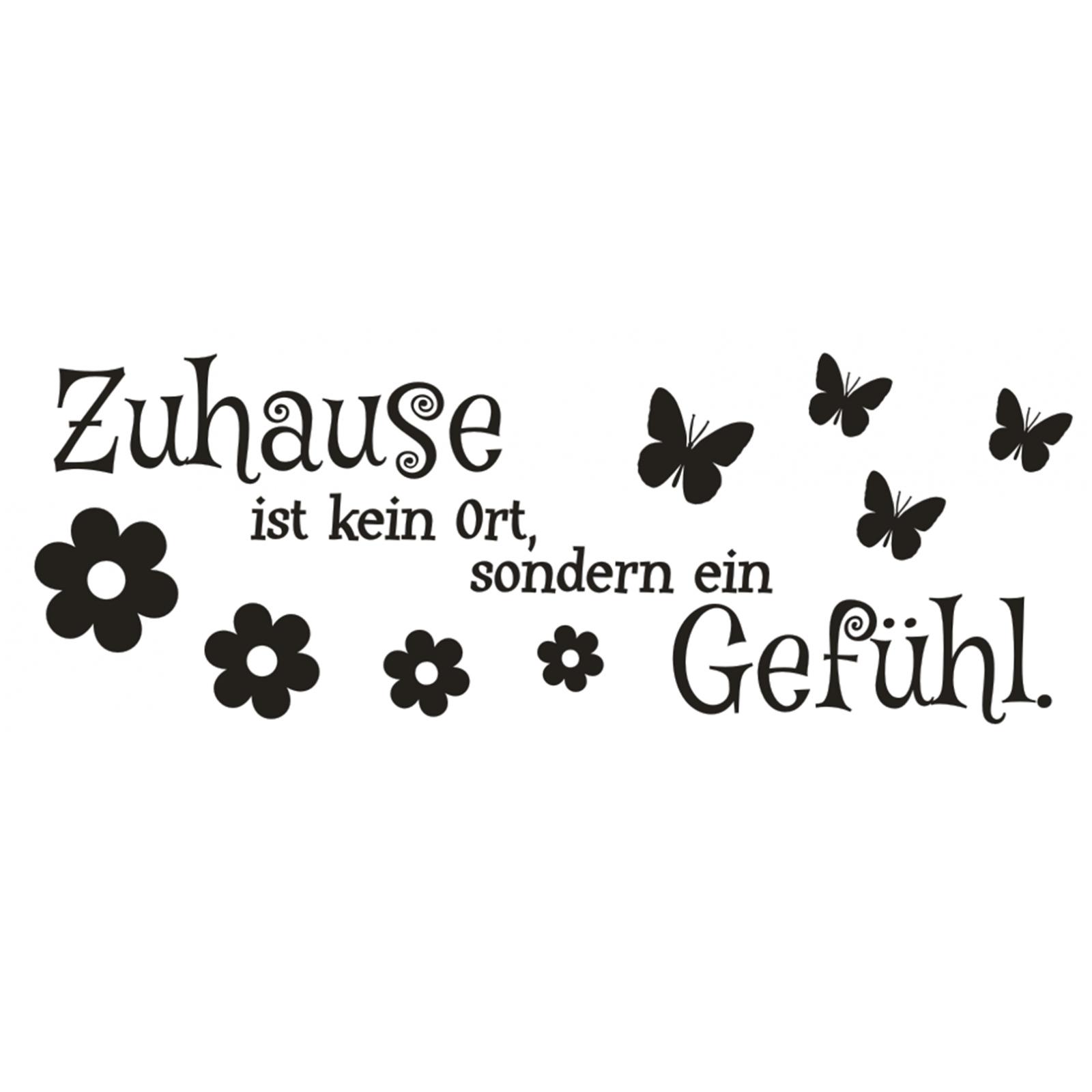 Wandtattoo-Spruch-Zuhause-kein-Ort-Gefuehl-Wandsticker-Sticker-Wandaufkleber-9 Indexbild 2