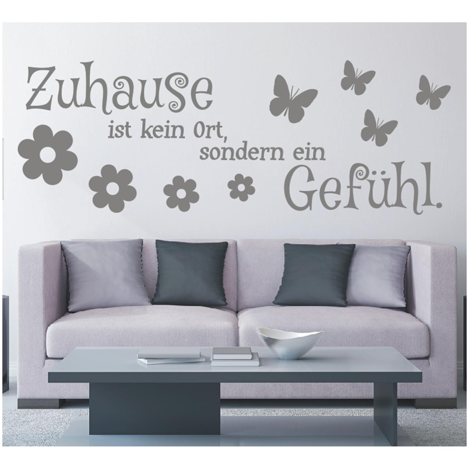 Wandtattoo-Spruch-Zuhause-kein-Ort-Gefuehl-Wandsticker-Sticker-Wandaufkleber-9 Indexbild 3