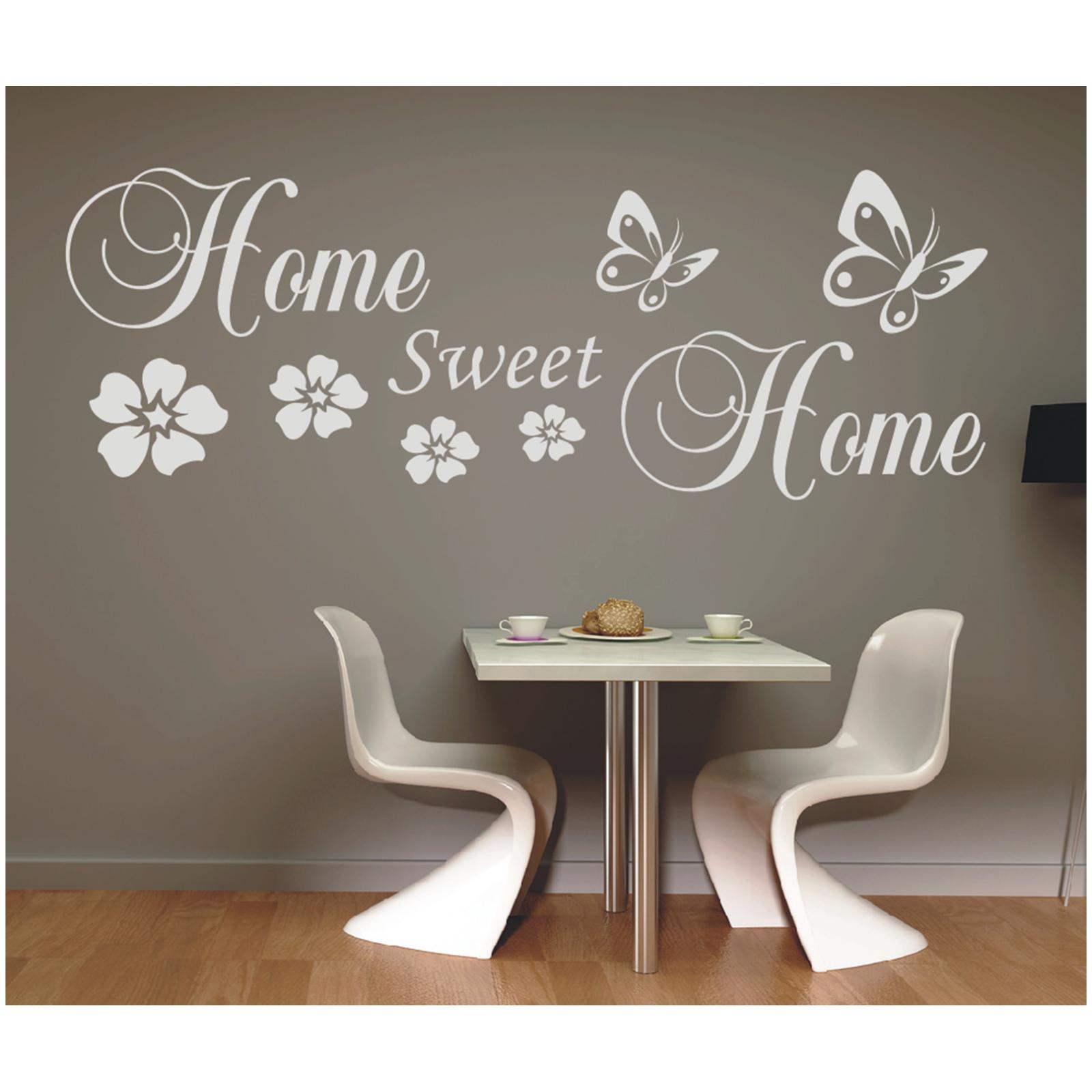 Indexbild 3 - Wandtattoo Spruch  Home sweet Home Zuhause Wandsticker Sticker Wandaufkleber 5