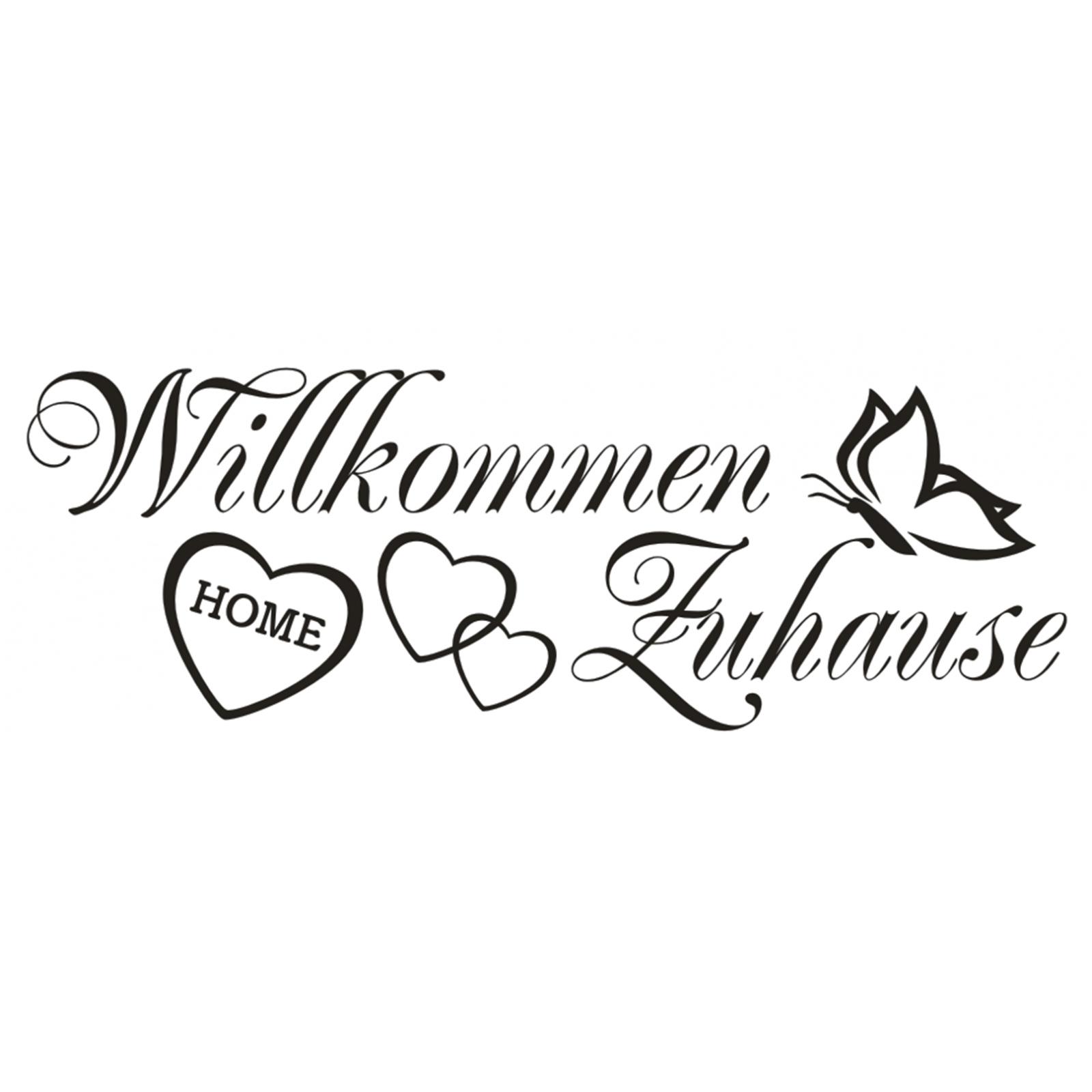 Details Zu Wandtattoo Spruch Willkommen Zuhause Welcome Aufkleber Sticker Wandaufkleber 2