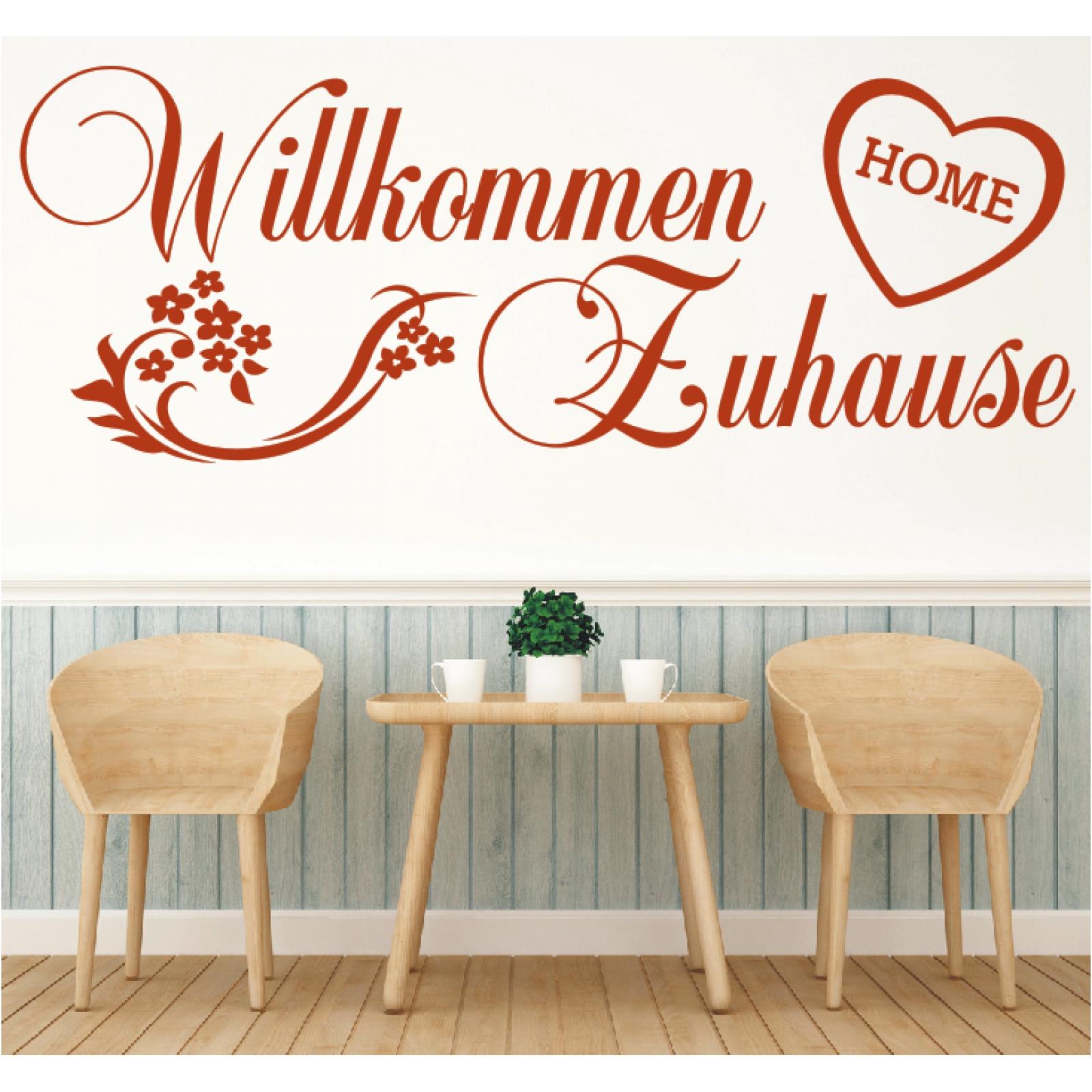 Details Zu Wandtattoo Spruch Willkommen Zuhause Welcome Aufkleber Sticker Wandaufkleber 4