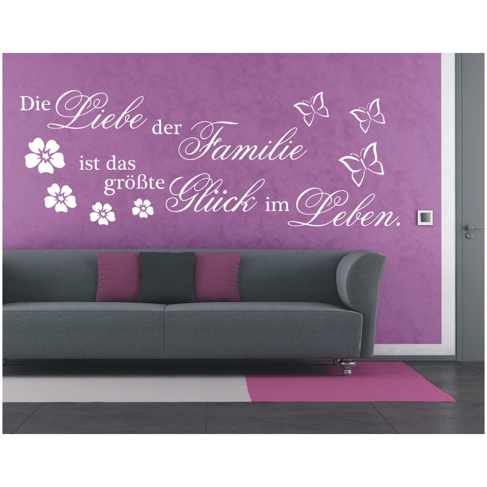 Wandtattoo Spruch Liebe Familie Gluck Leben Wandsticker Sticker
