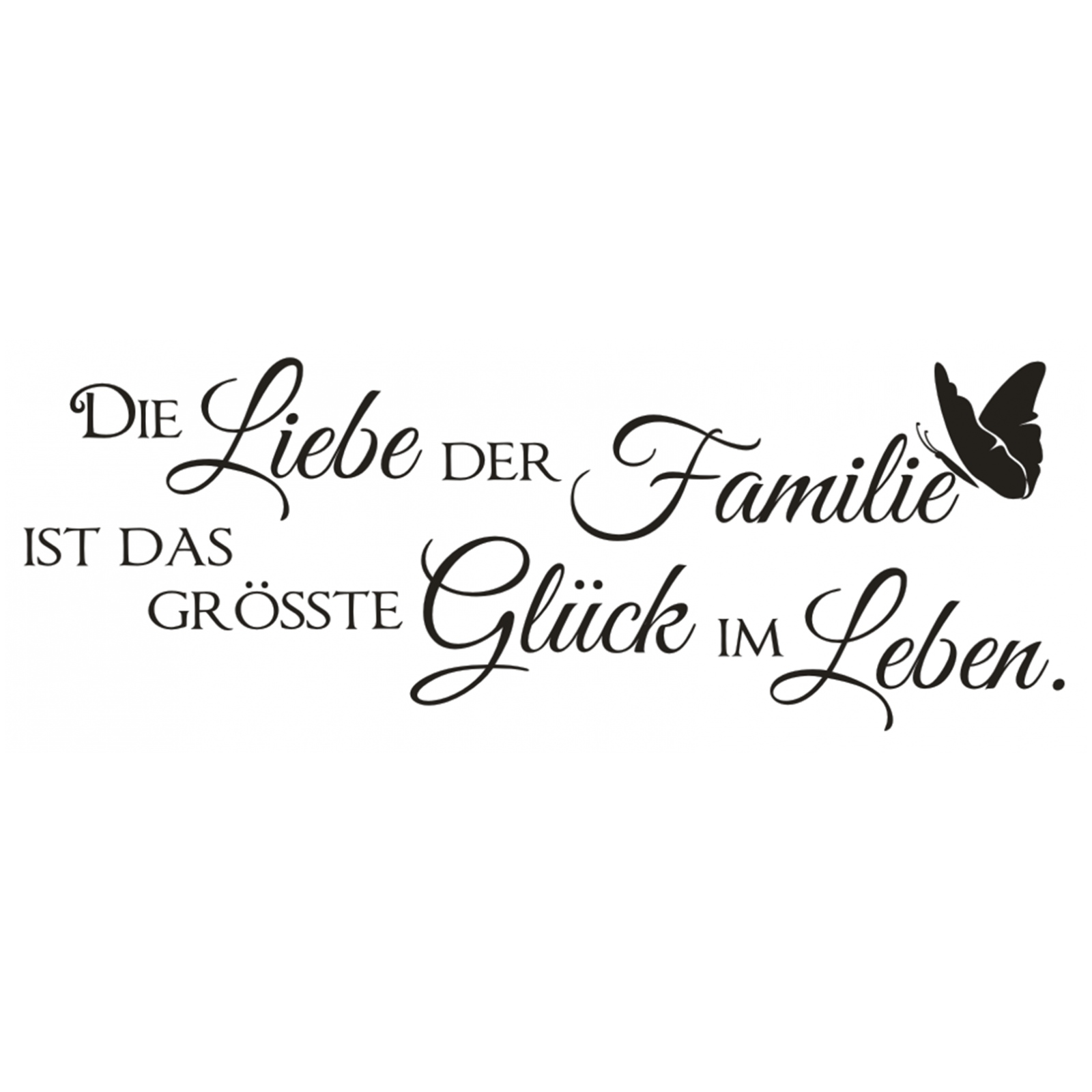 X374 Wandtattoo Spruch / Die Liebe der Familie Glück Leben Sticker