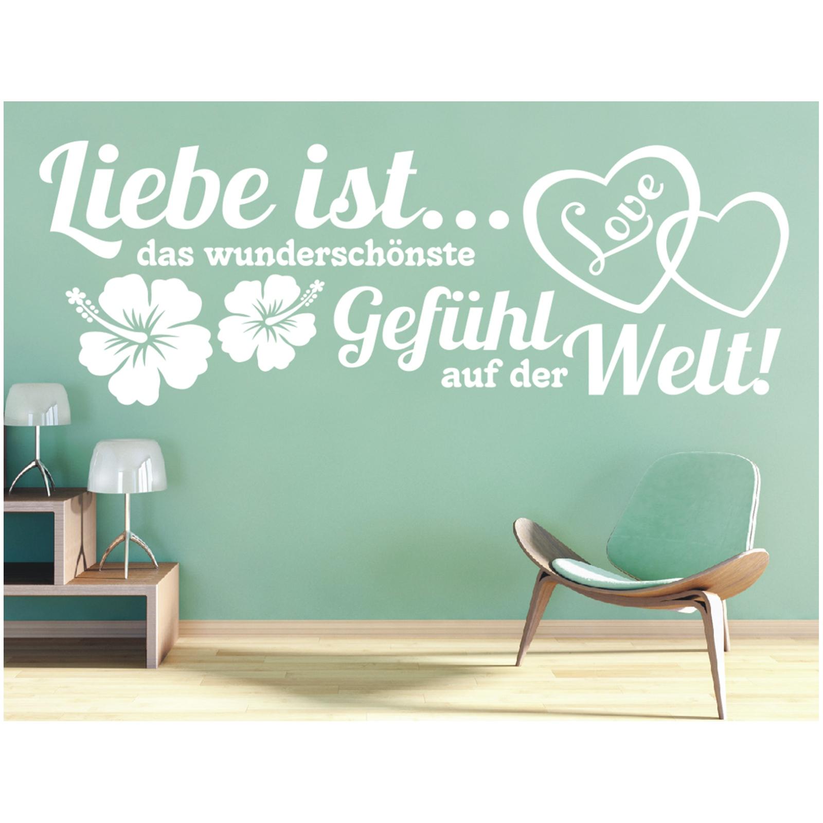Künstlerisch Wandtattoo Welt Ideen Von Spruch Liebe Ist Gefühl Wandsticker Wandaufkleber Sticker