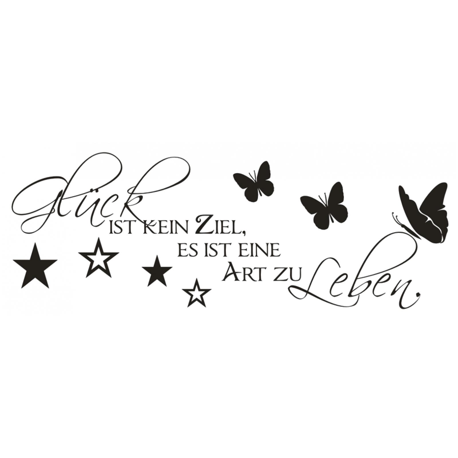 Spruch-WANDTATTOO-Glueck-Ziel-Art-zu-Leben-Wandsticker-Wandaufkleber-Sticker Indexbild 2
