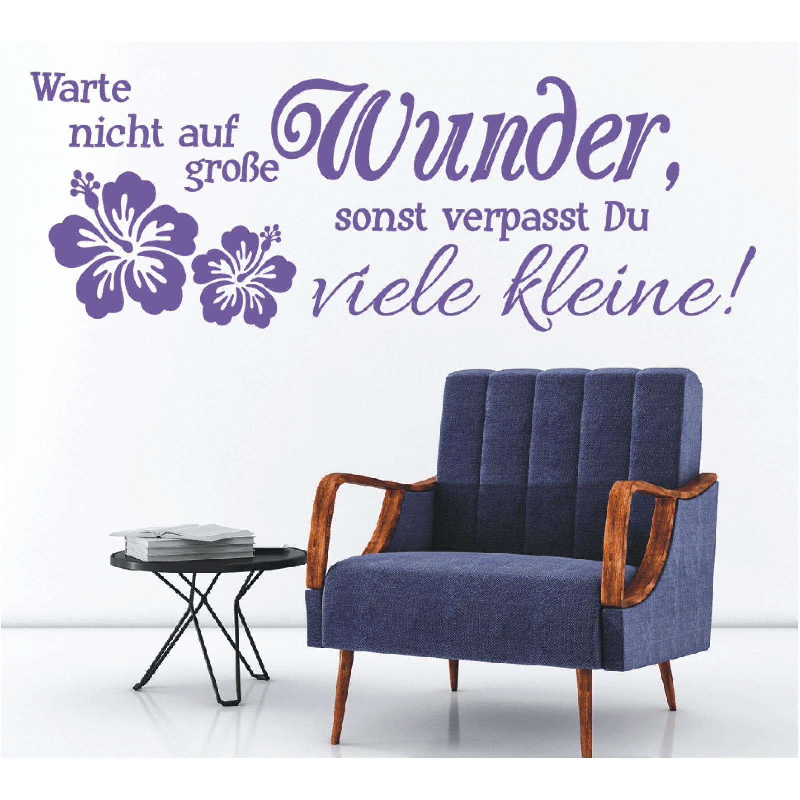Wandtattoo Spruch  Warte nicht auf Wunder Wandsticker Wandaufkleber Sticker 3