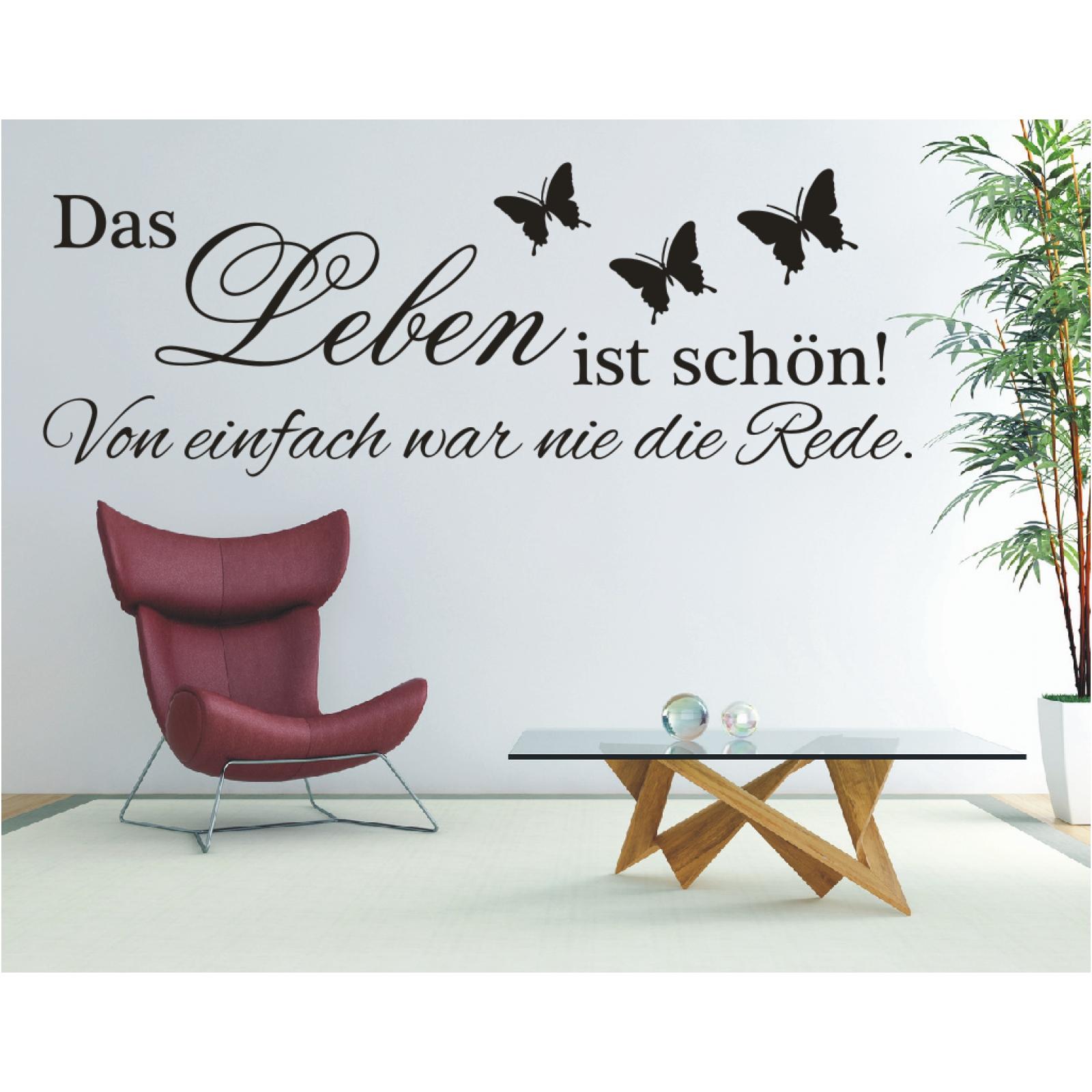 Wandtattoo Spruch Das Leben Ist Schon Von Wandsticker Wandaufkleber Sticker Ebay