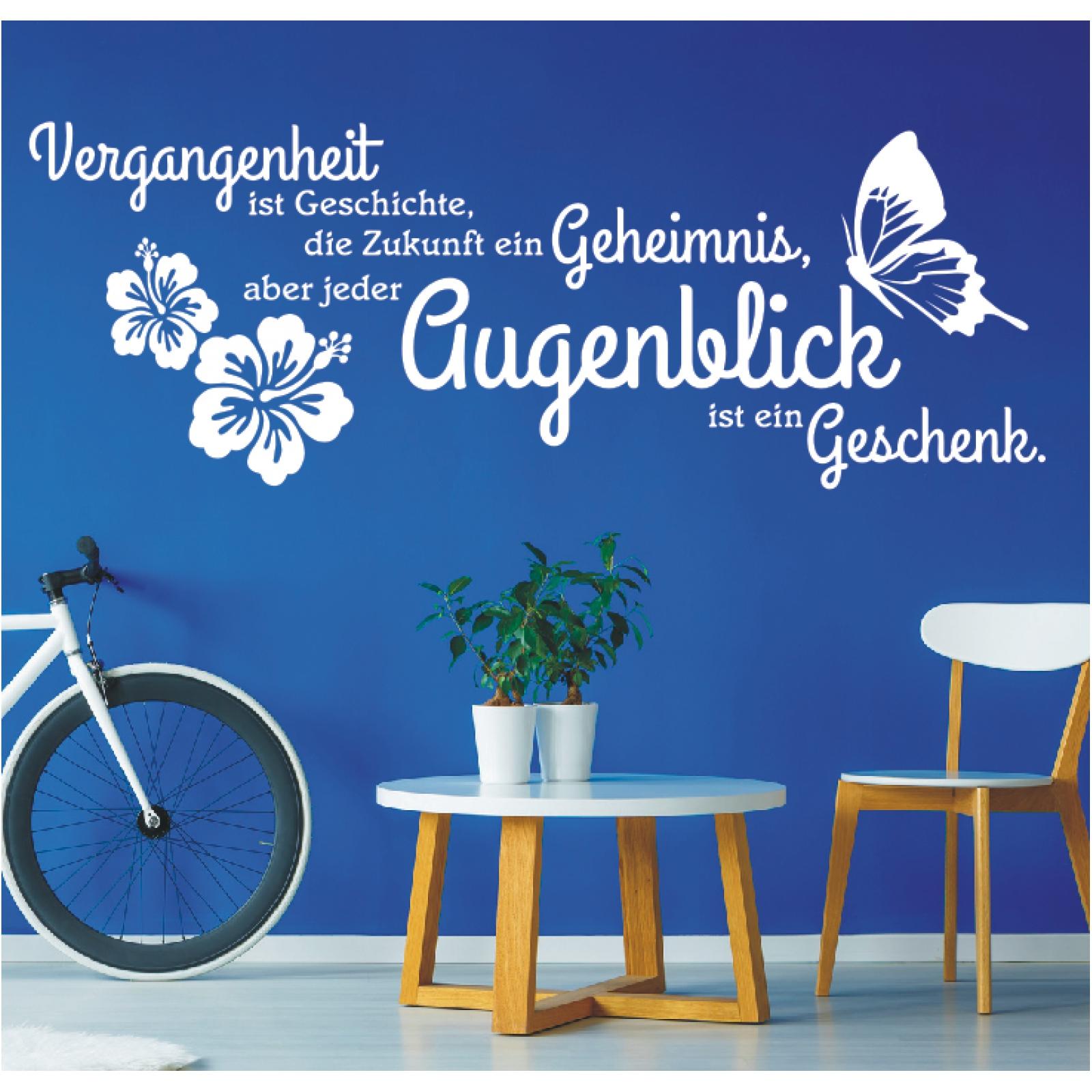 Details Zu Wandtattoo Spruch Vergangenheit Ist Zukunft Augenblick Wandaufkleber Sticker