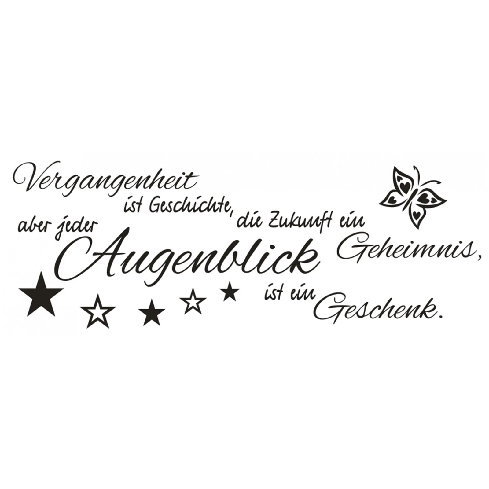 Details Zu Wandtattoo Spruch Vergangenheit Ist Zukunft Augenblick Wandaufkleber Sticker 5