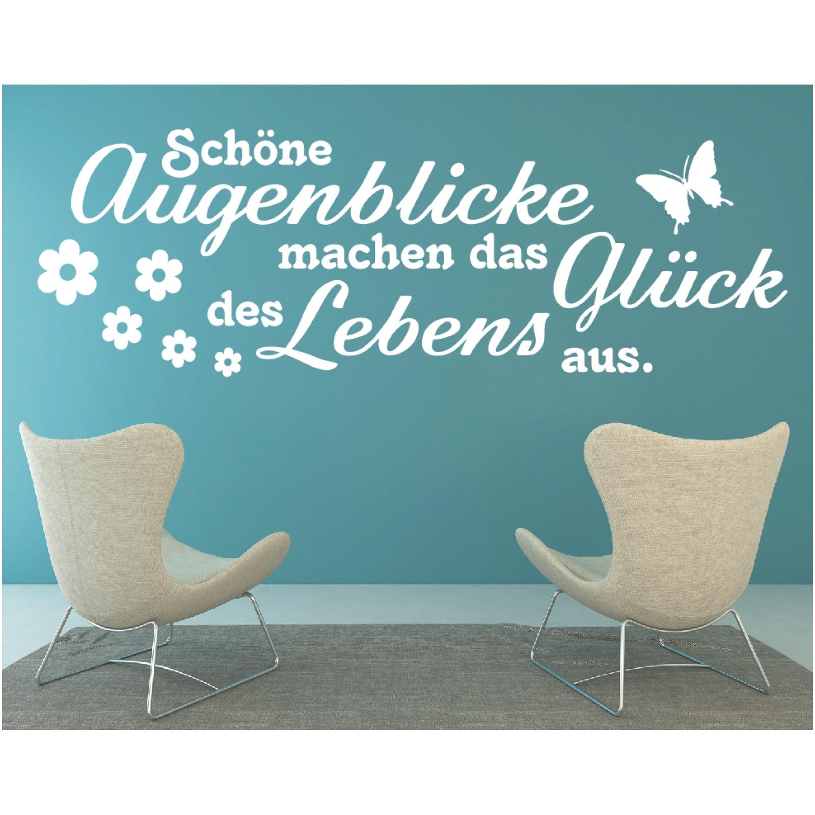 Wandtattoo-Spruch-Schoene-Augenblicke-das-Glueck-Leben-Wandaufkleber-Sticker Indexbild 3