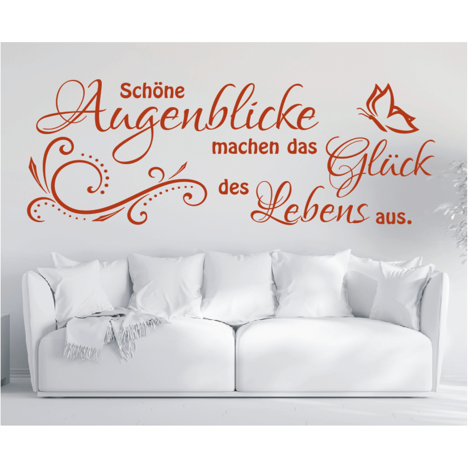 x1915 wandtattoo spruch sch ne augenblicke das gl ck. Black Bedroom Furniture Sets. Home Design Ideas