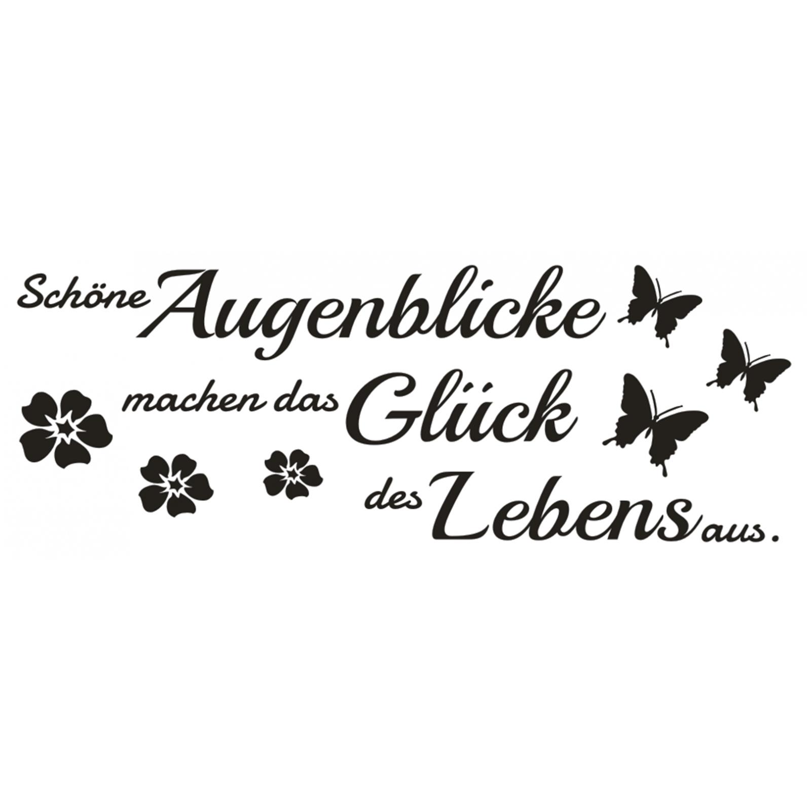 Inspiring Sprüche über Das Glück Photo Of Wandtattoo-spruch-schoene-augenblicke-das-glueck-leben-wandaufkleber-