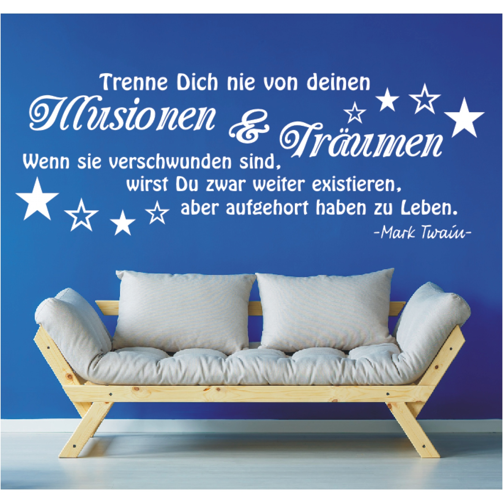 Wandtattoo-Spruch-Illusionen-Traeumen-Leben-Twain-Zitat-Wandaufkleber-Sticker-9
