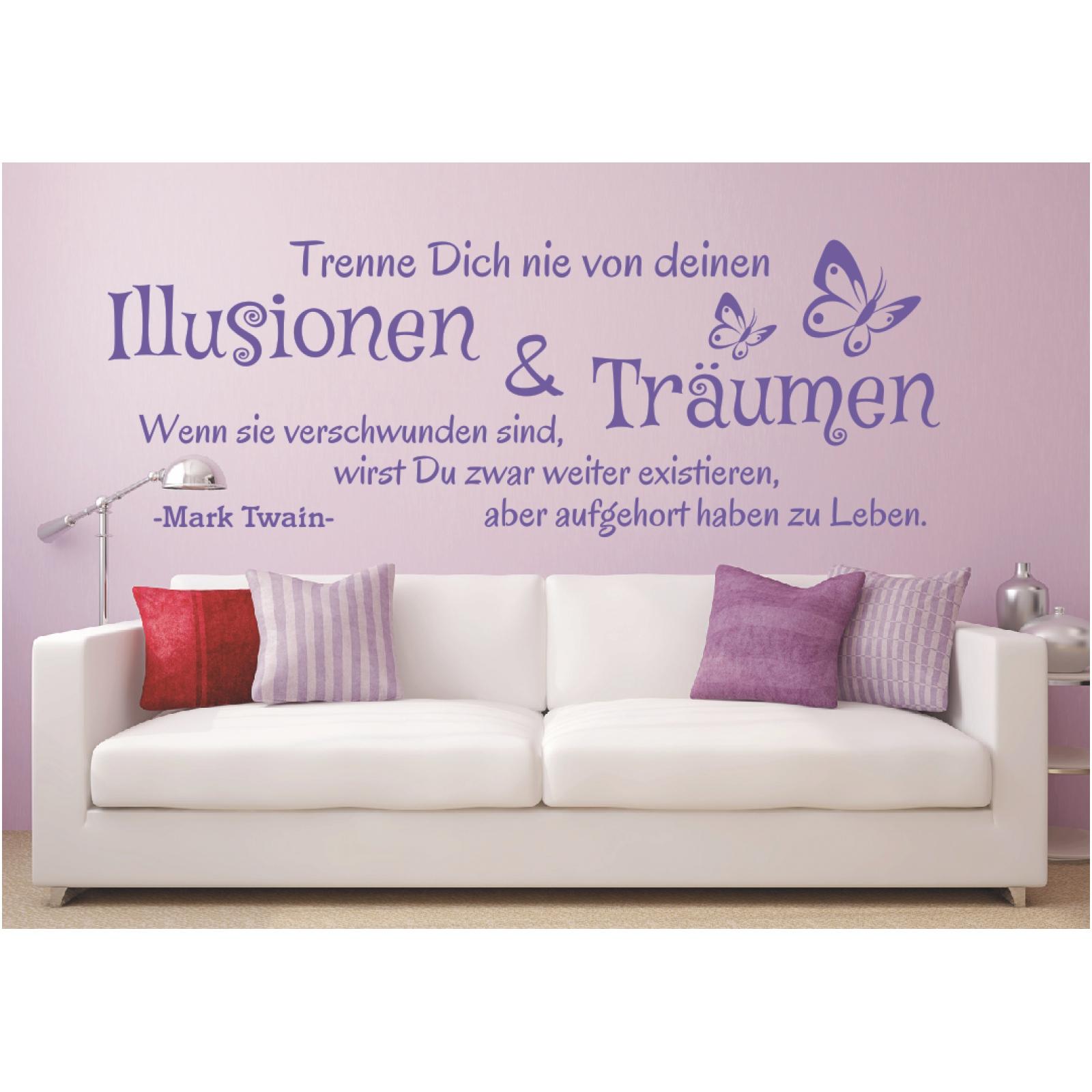 "Wandsticker Wanddeko Wandaufkleber Wandtattoo Zitat /""Trenne dich.../"" Träume"