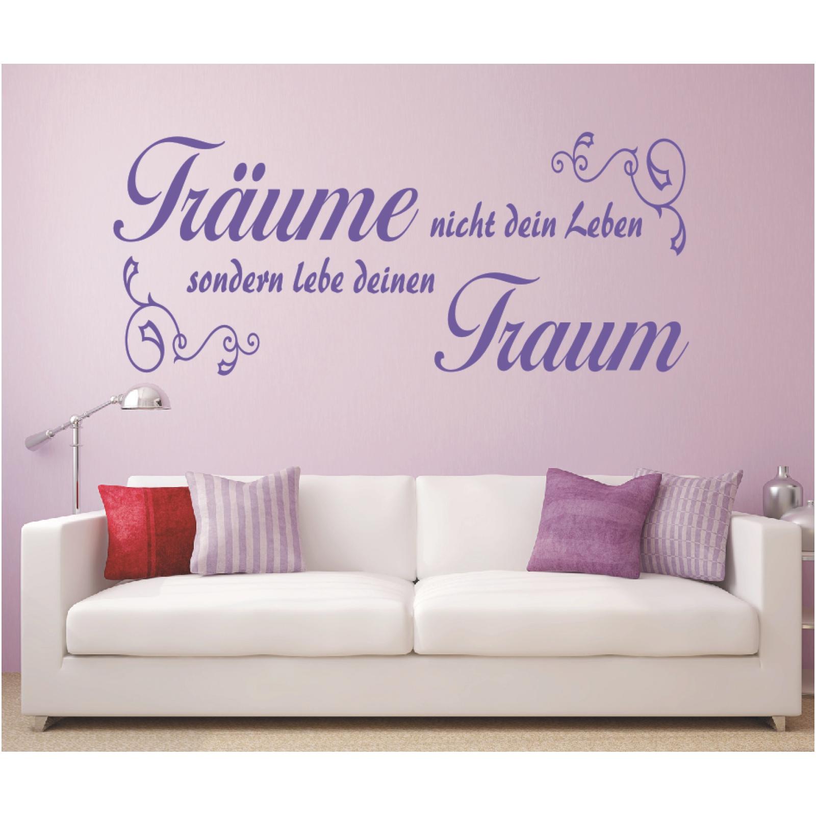 Wandtattoo Spruch  Träume nicht dein Leben Lebe Traum Wandaufkleber Sticker