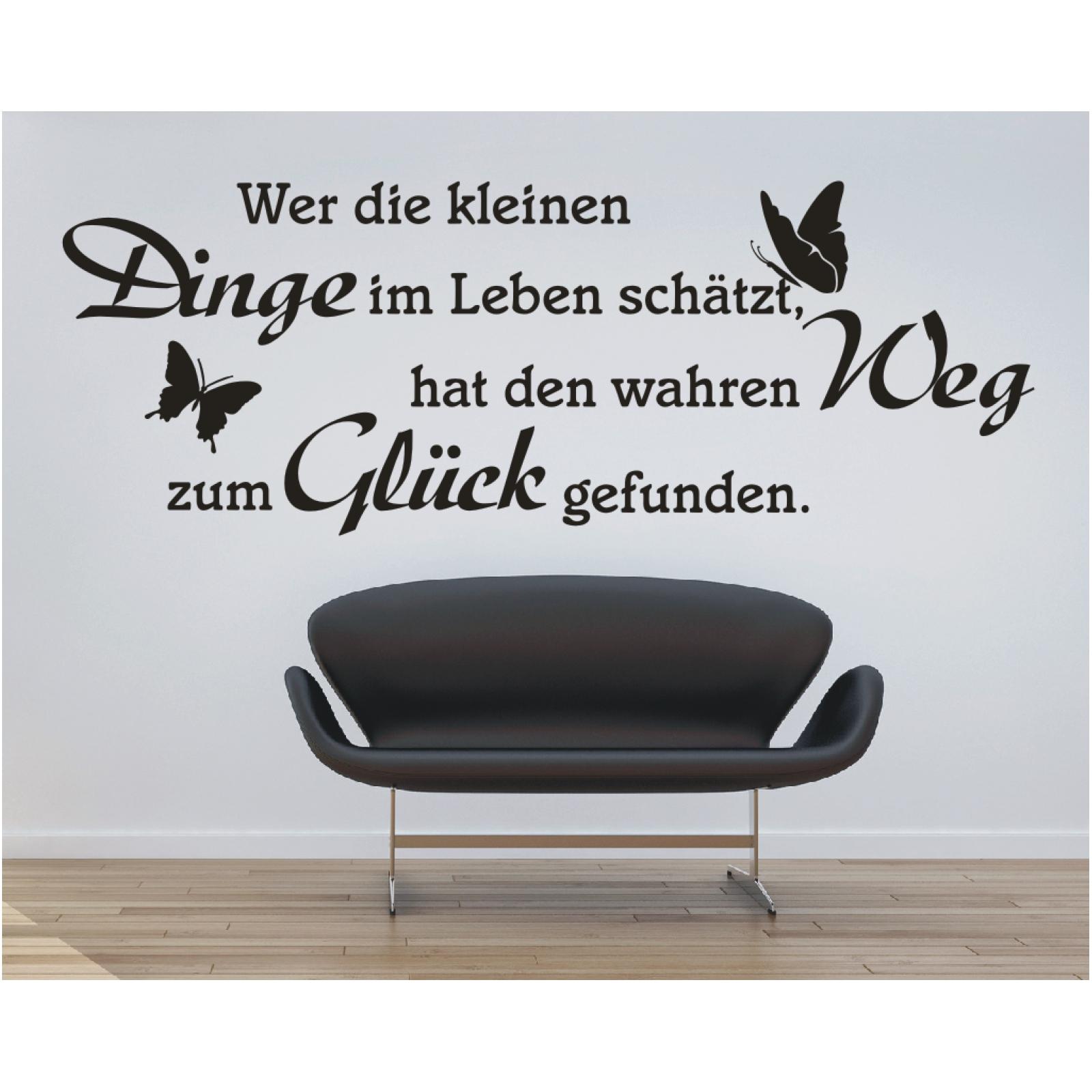 Wandtattoo Spruch  Dinge im Leben Weg Glück Wandsticker Wandaufkleber Sticker