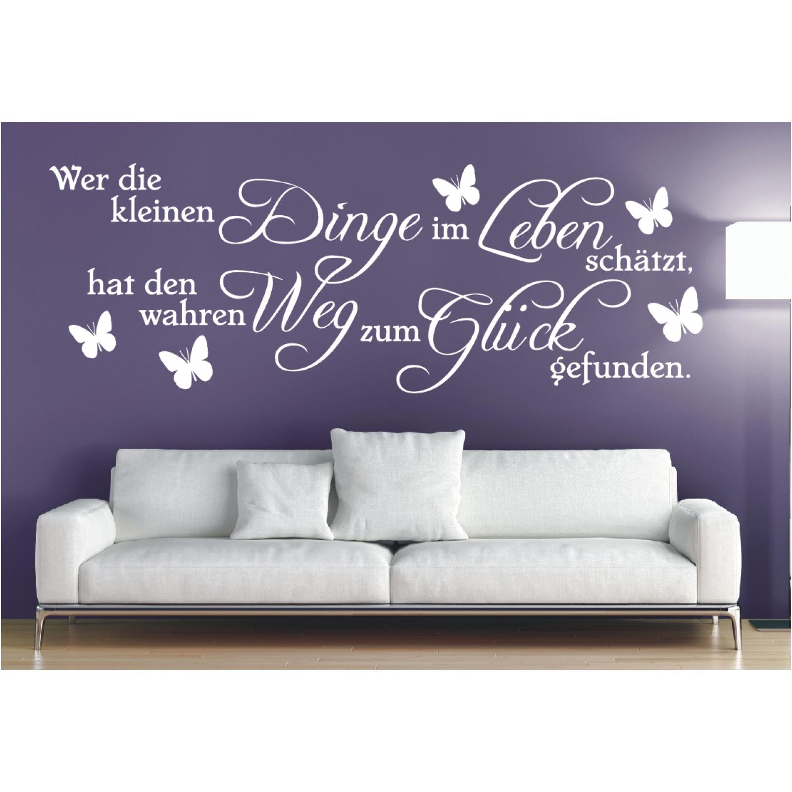Wandtattoo Spruch  Dinge im Leben Weg Glück Wandsticker Wandaufkleber Sticker ,