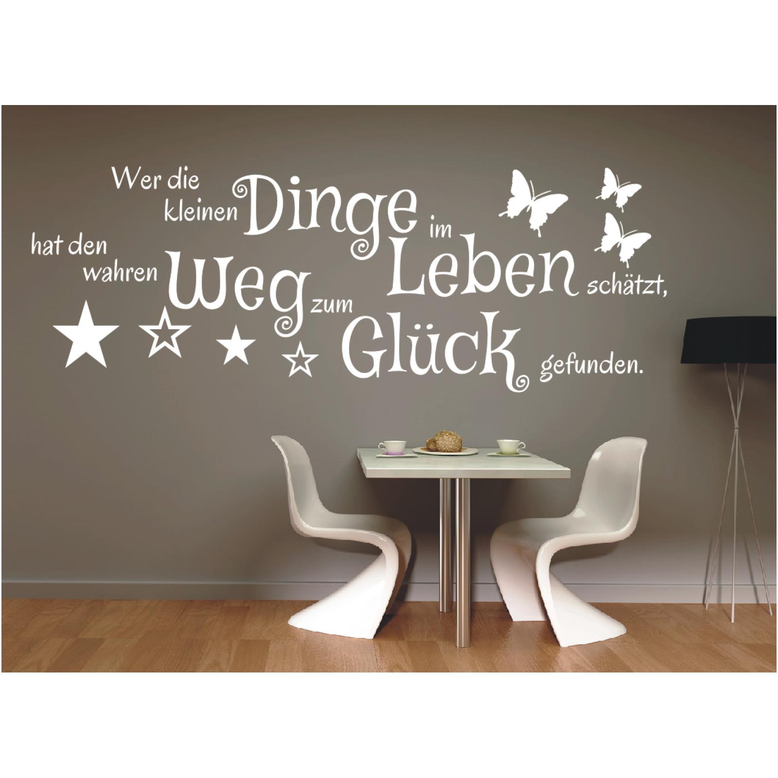 Spruch WANDTATTOO Dinge im Leben Weg Glück Wandsticker Wandaufkleber Sticker d