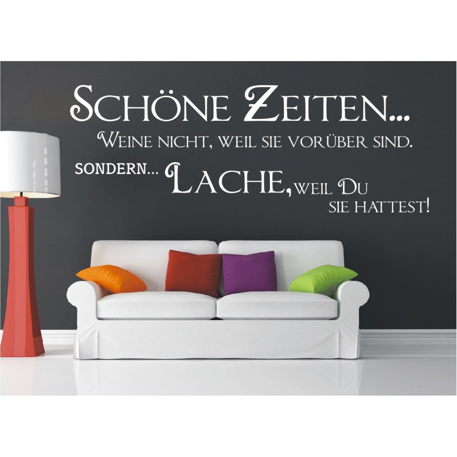 Spruch-WANDTATTOO-Schoene-Zeiten-Lache-Du-Wandsticker-Wandaufkleber-Sticker-9 Indexbild 3