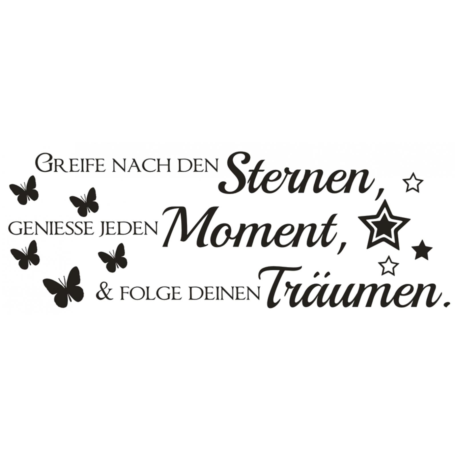 Spruch-WANDTATTOO-Sterne-Moment-Traeume-Wandsticker-Wandaufkleber-Sticker-3 Indexbild 2