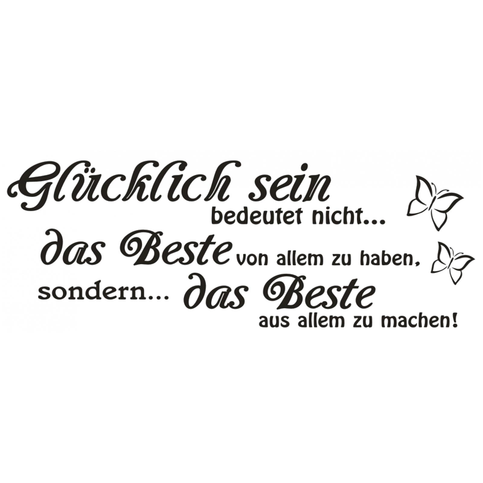 Wandtattoo-Spruch-Gluecklich-sein-das-Beste-Wandsticker-Wandaufkleber-Sticker-0 Indexbild 2