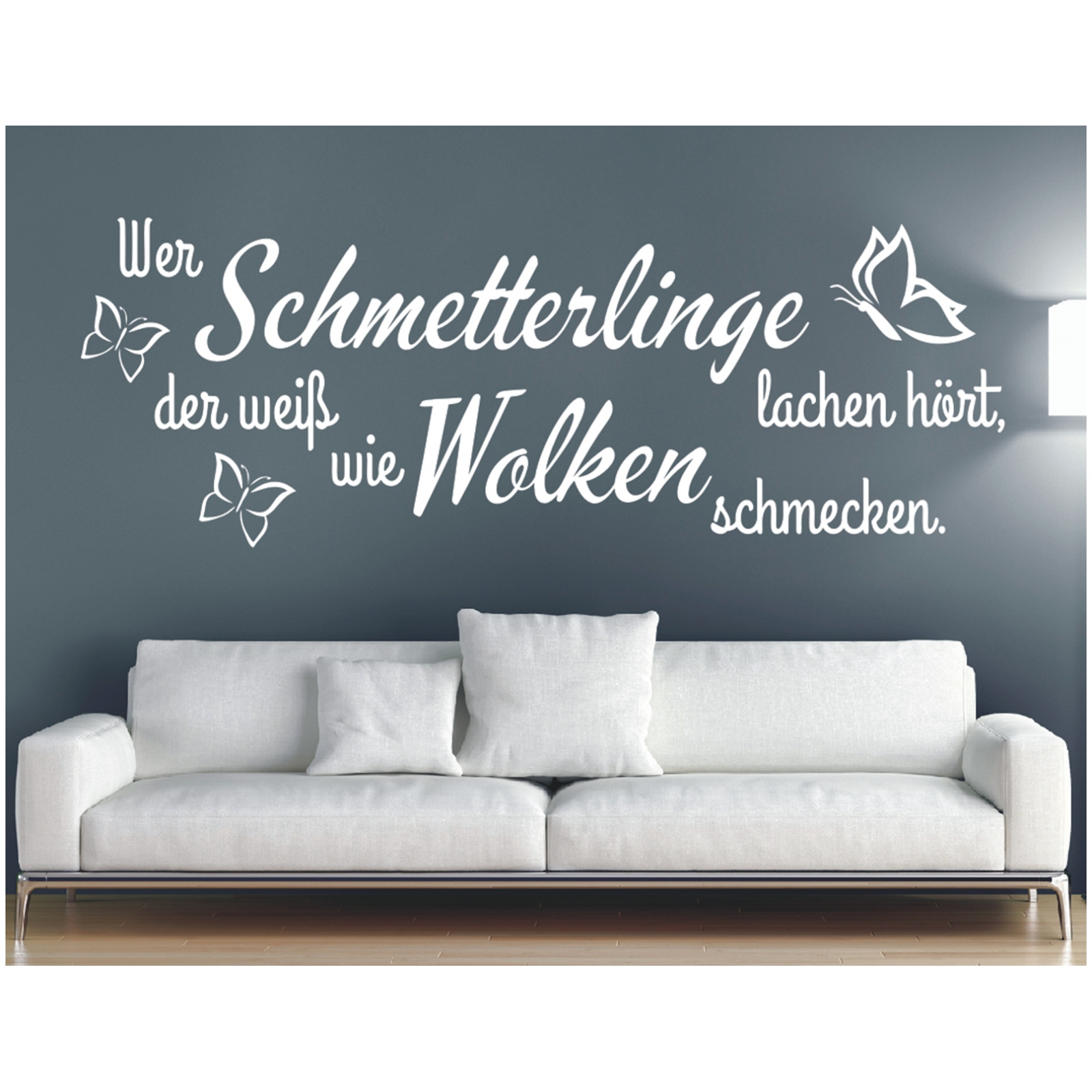 Wandtattoo Spruch Schmetterlinge Lachen Wandsticker Wandaufkleber Sticker 2 Eur 12 90 Picclick De