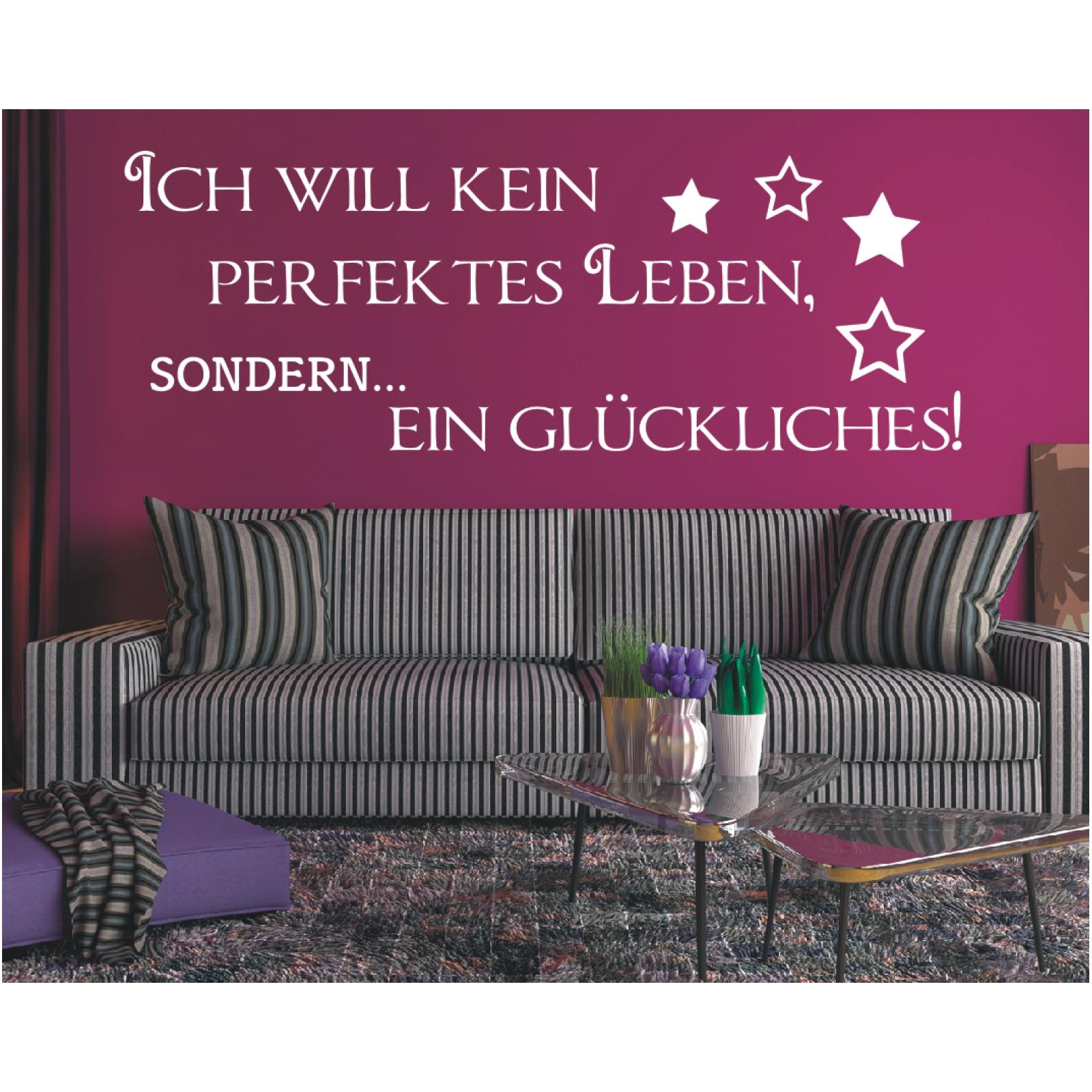 Wall Decals Stickers Spruch Wandtattoo Perfektes Leben Glucklich Wandsticker Wandaufkleber Sticker 5 Home Furniture Diy Morisonmauritius Com