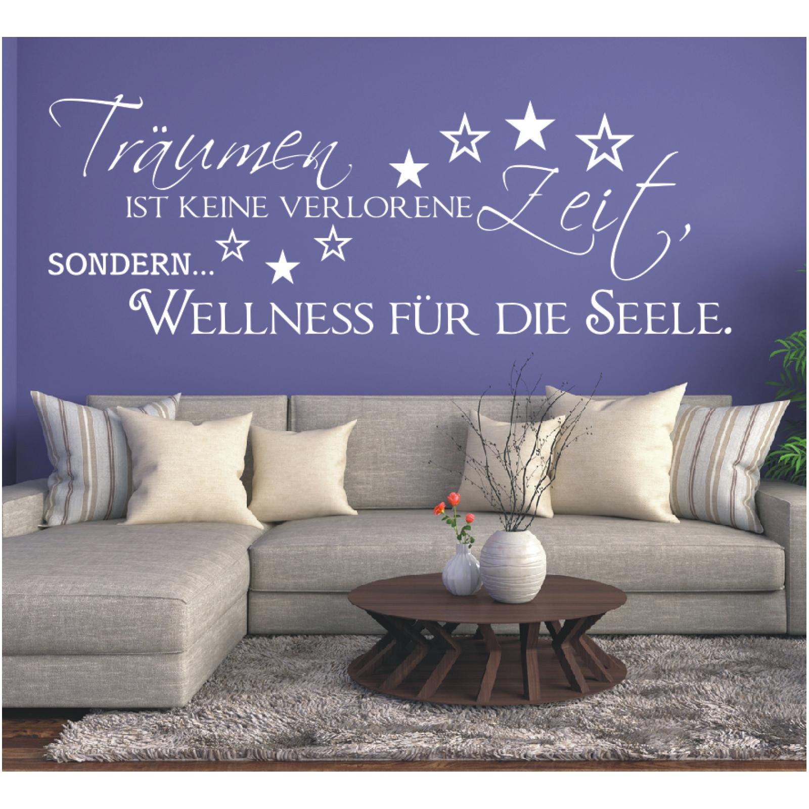 Wandtattoo Spruch  Träumen keine Zeit Seele Wandsticker Wandaufkleber Sticker 3