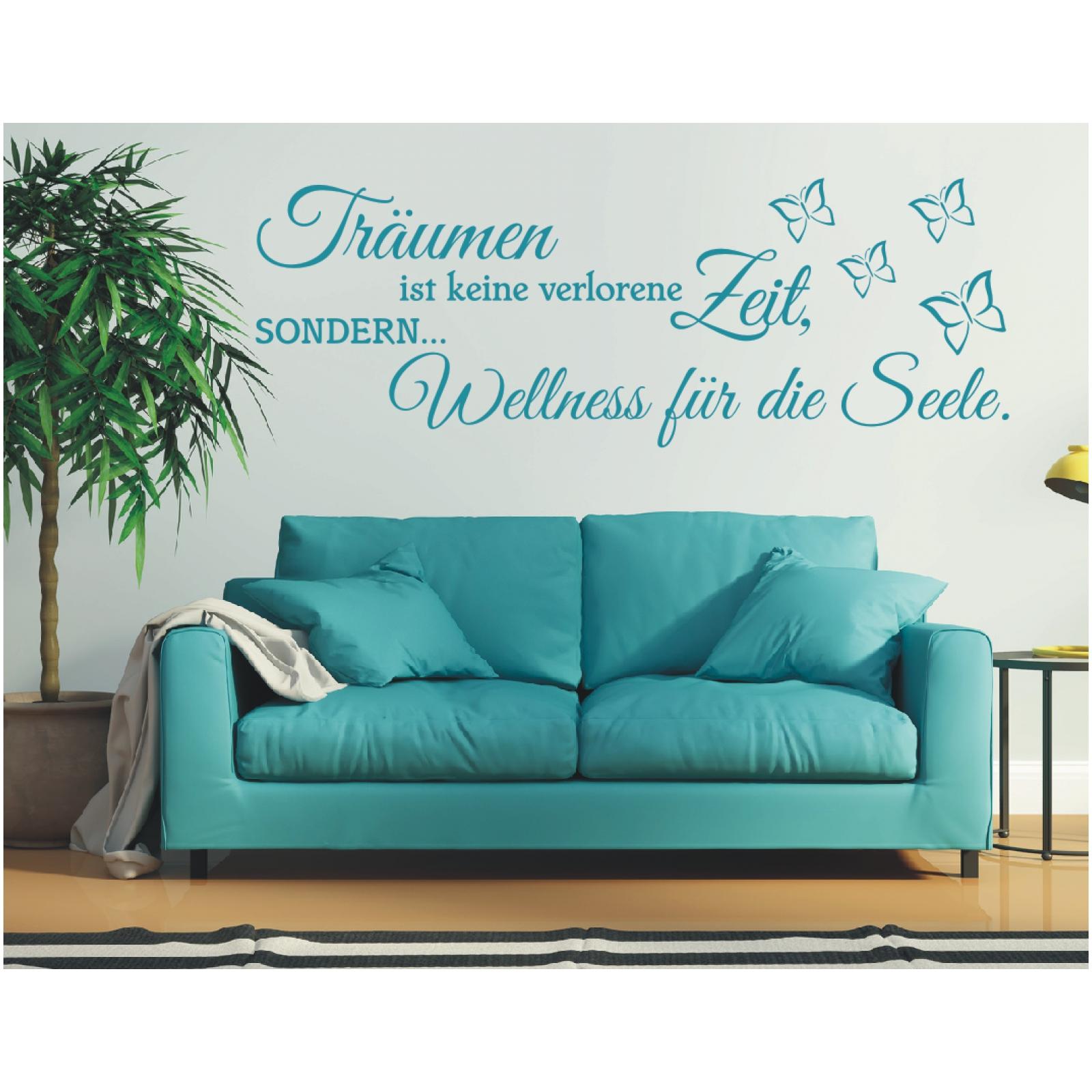 x1062 wandtattoo spruch tr umen ist keine verlorene zeit seele wandaufkleber 1 ebay. Black Bedroom Furniture Sets. Home Design Ideas