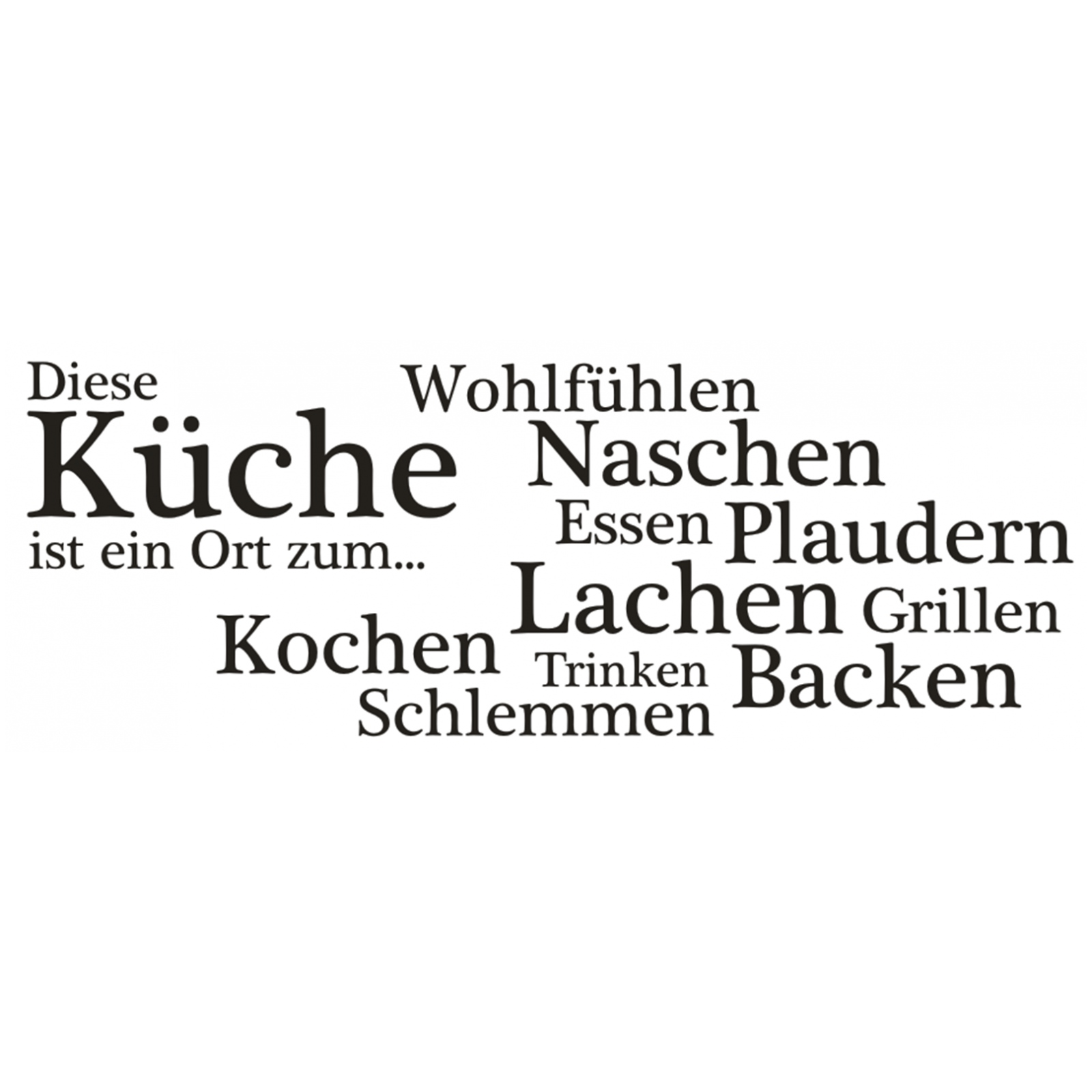 x540 wandtattoo spruch diese k che ort kochen essen wandsticker wandaufkleber ebay. Black Bedroom Furniture Sets. Home Design Ideas