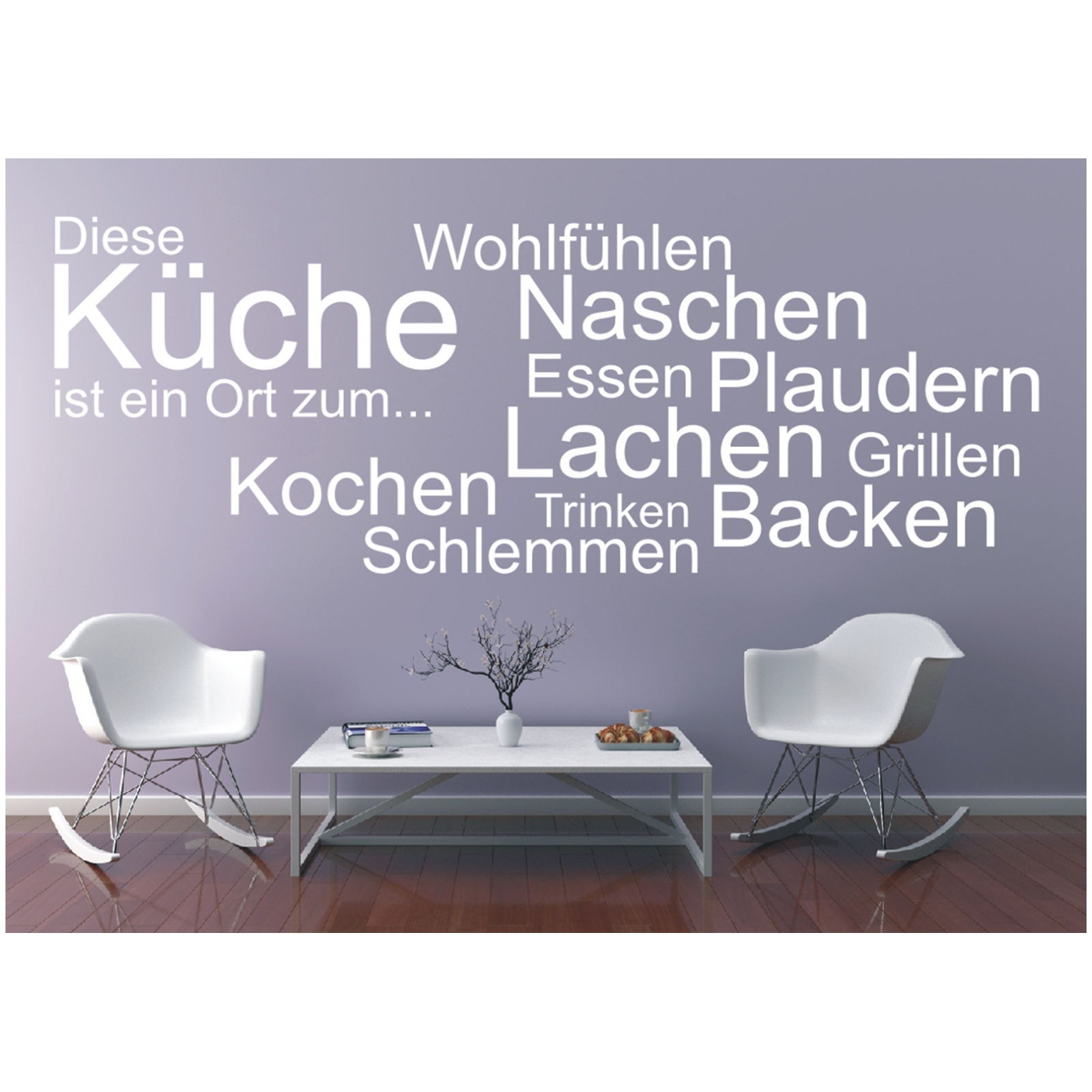 wandtattoo spruch k che ort kochen essen wandsticker. Black Bedroom Furniture Sets. Home Design Ideas