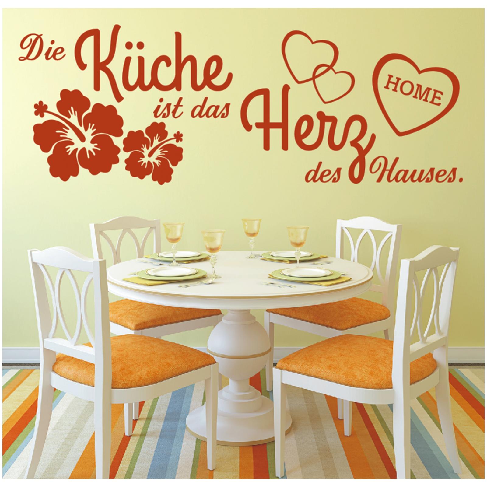 Wandtattoo Spruch Küche Herz des Hauses Wandsticker Wandaufkleber ...