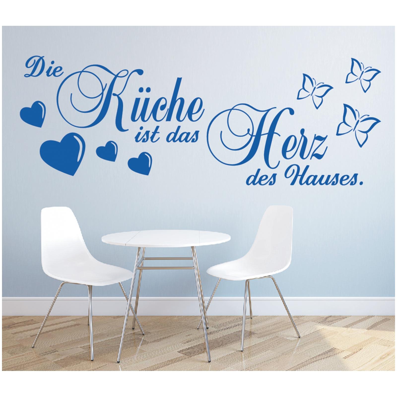 Wandtattoo Spruch Kuche Herz Des Hauses Wandsticker Wandaufkleber Sticker 6 Ebay