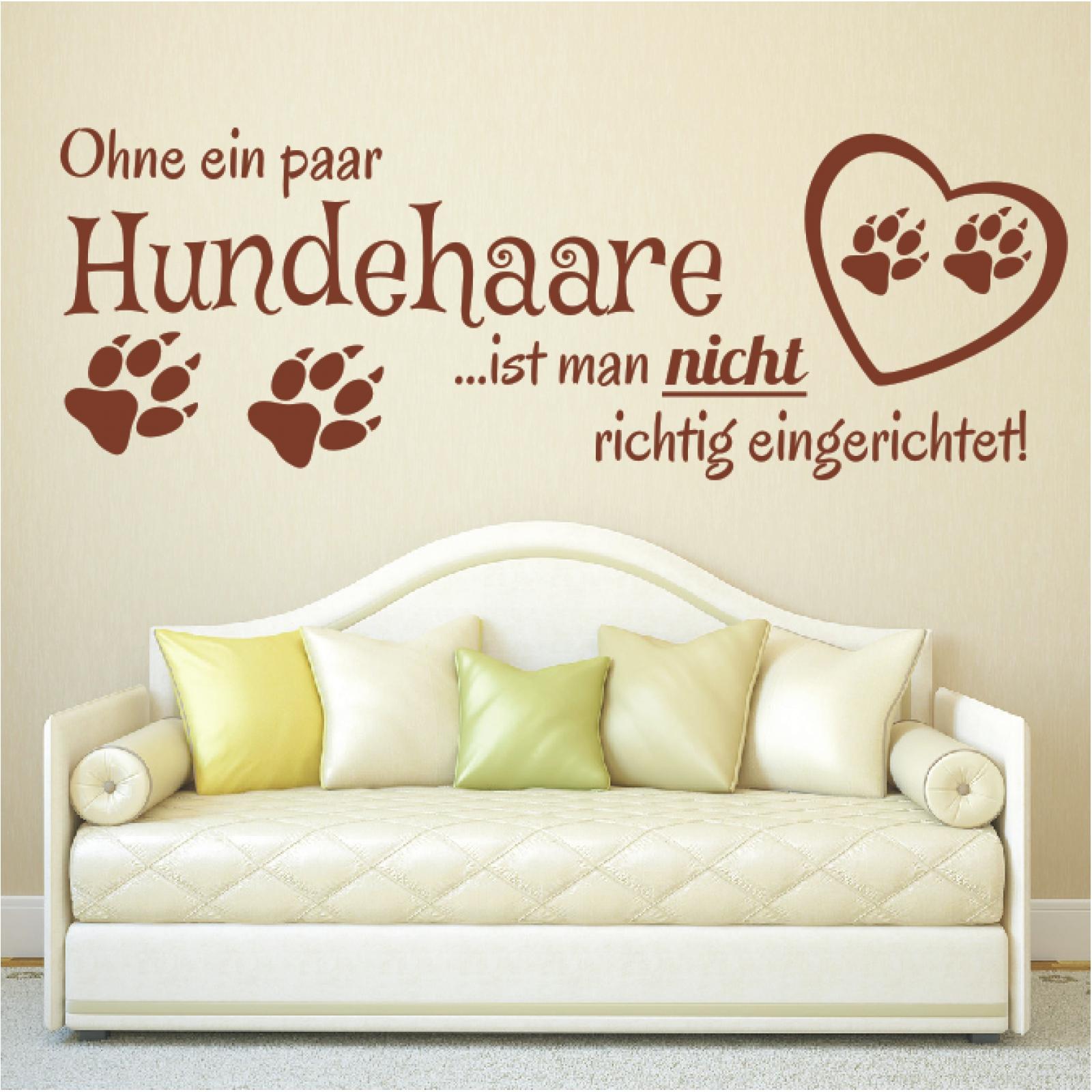 Spruch-WANDTATTOO-Ohne-ein-Hundehaare-Hund-Sticker-Wandaufkleber-Wandsticker-3