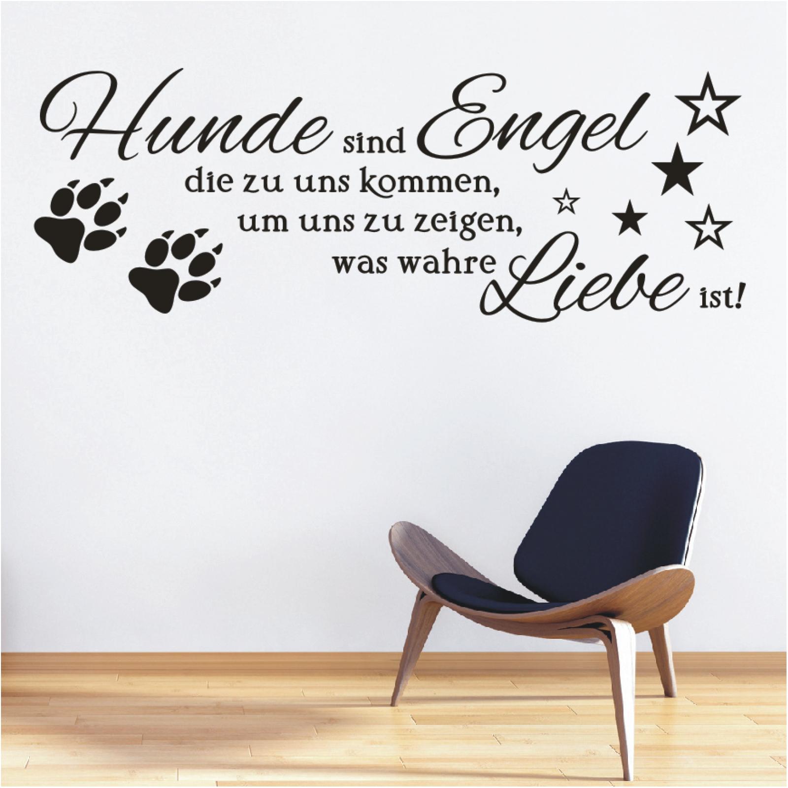 Wandtattoo Spruch Hunde Engel Wahre Liebe Sticker Wandaufkleber