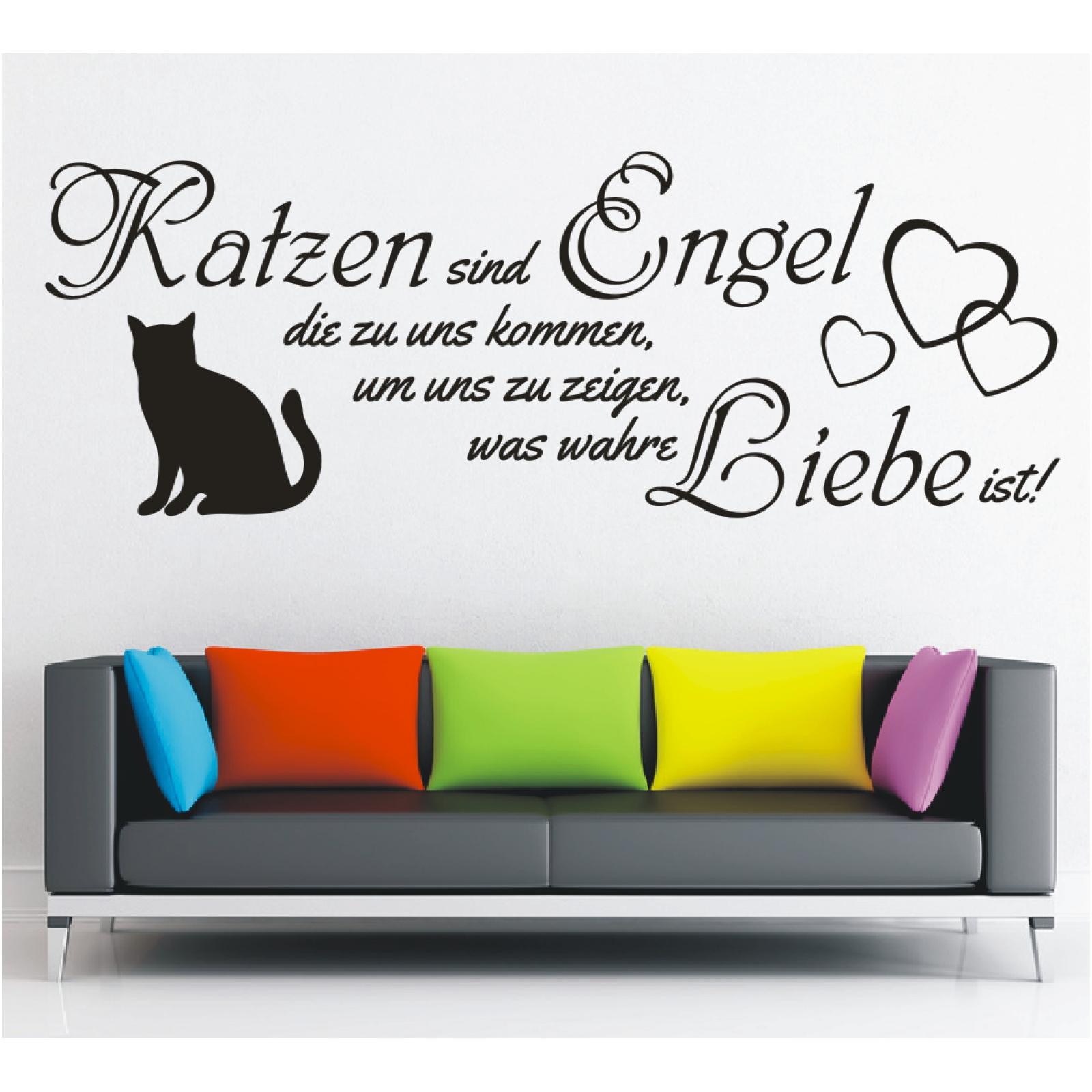 Spruche Fur Die Wahre Liebe.Details Zu Wandtattoo Spruch Katzen Engel Wahre Liebe Sticker Wandaufkleber Wandsticker 3