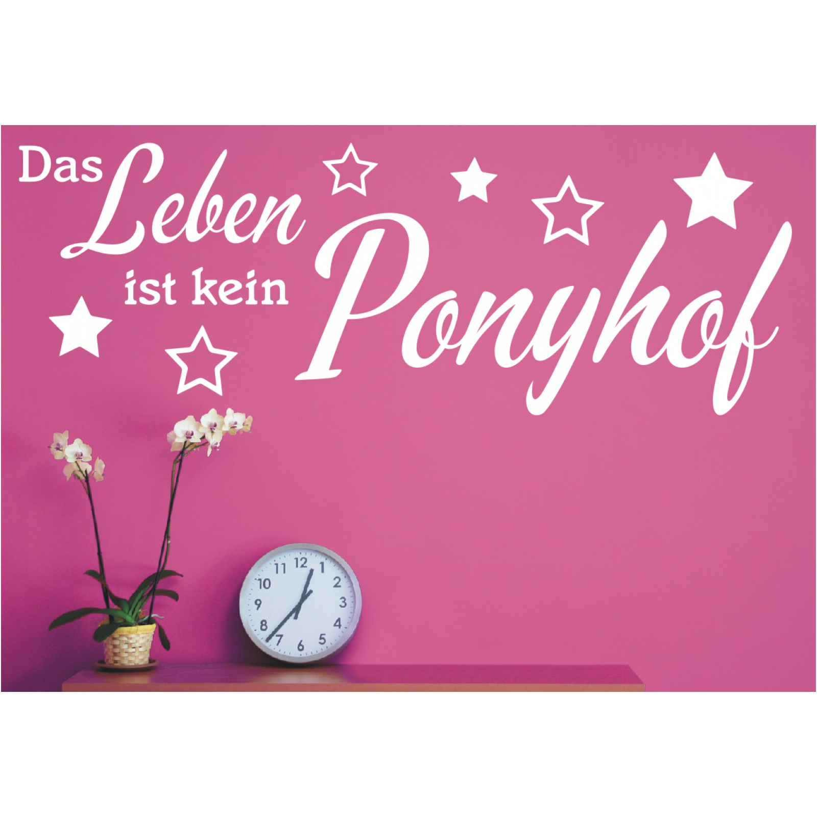 Spruch Wandtattoo Das Leben Ist Kein Ponyhof Sticker Wandsticker Wandaufkleber 2 Ebay